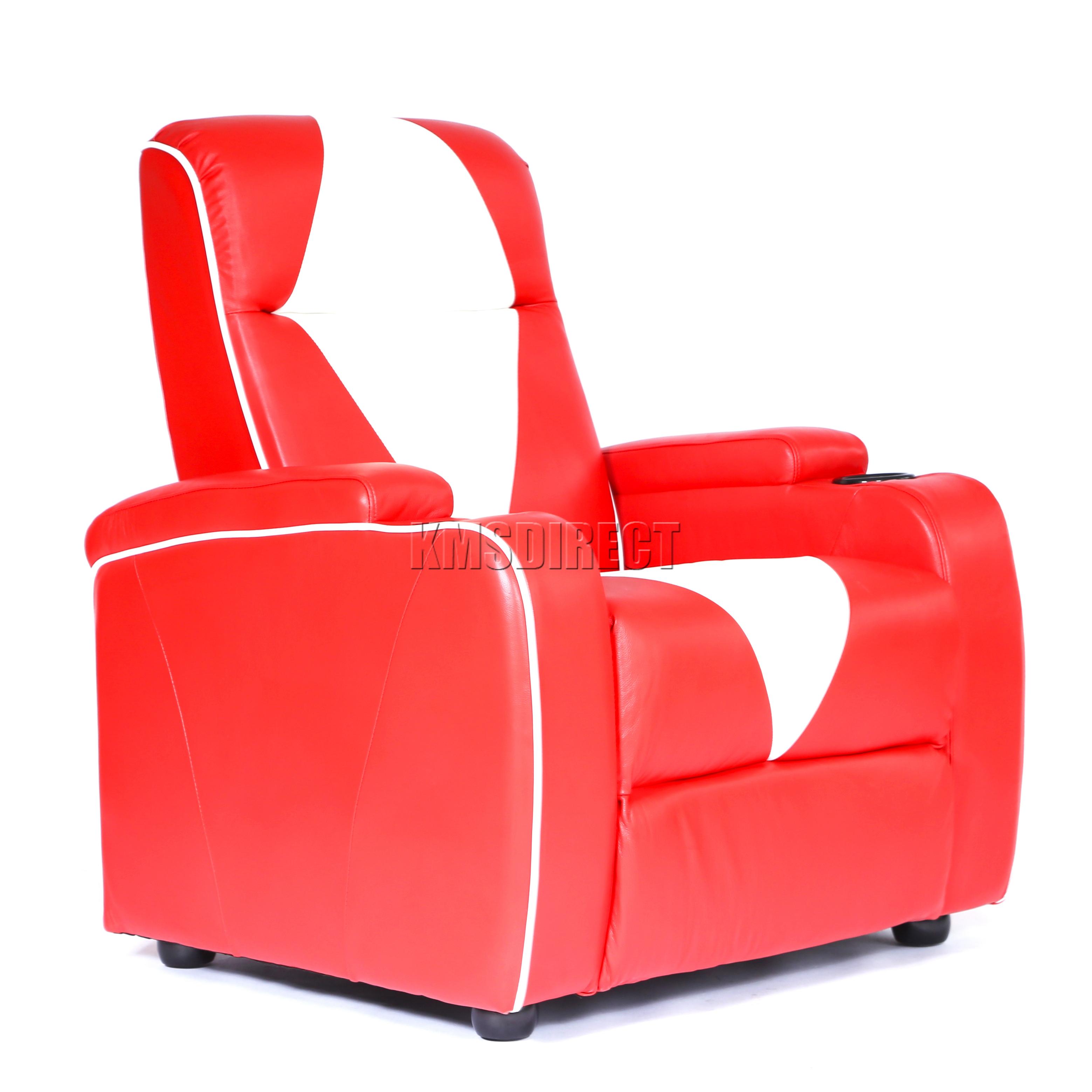 FoxHunter Leather Retro Theatre Cinema Movie Chair Sofa Electric