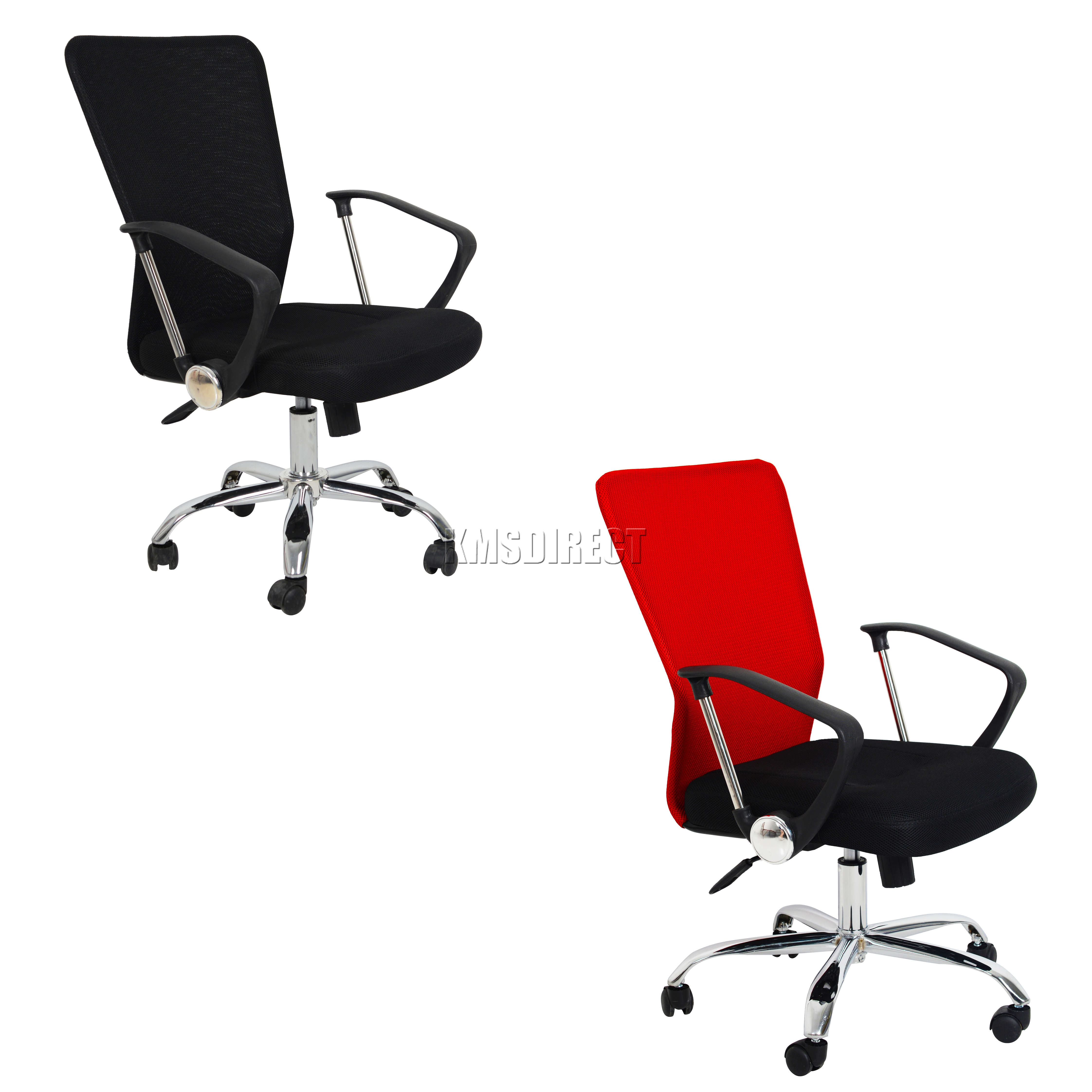 FoxHunter puter Executive fice Desk Chair Mesh Fabric Swivel