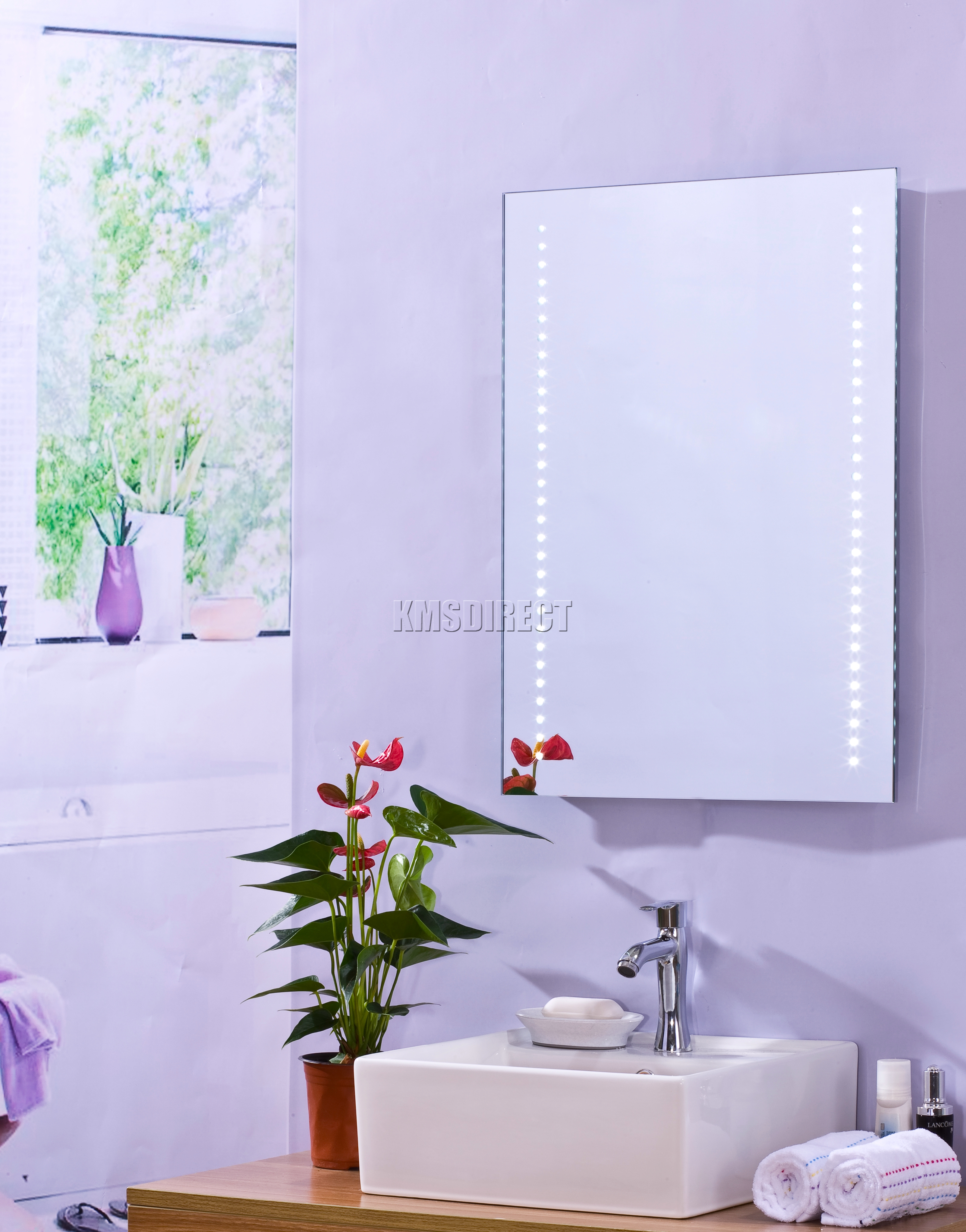 Sentinel FoxHunter Wall Mount LED Illuminated Bathroom Mirror Unit Light With Sensor MC09