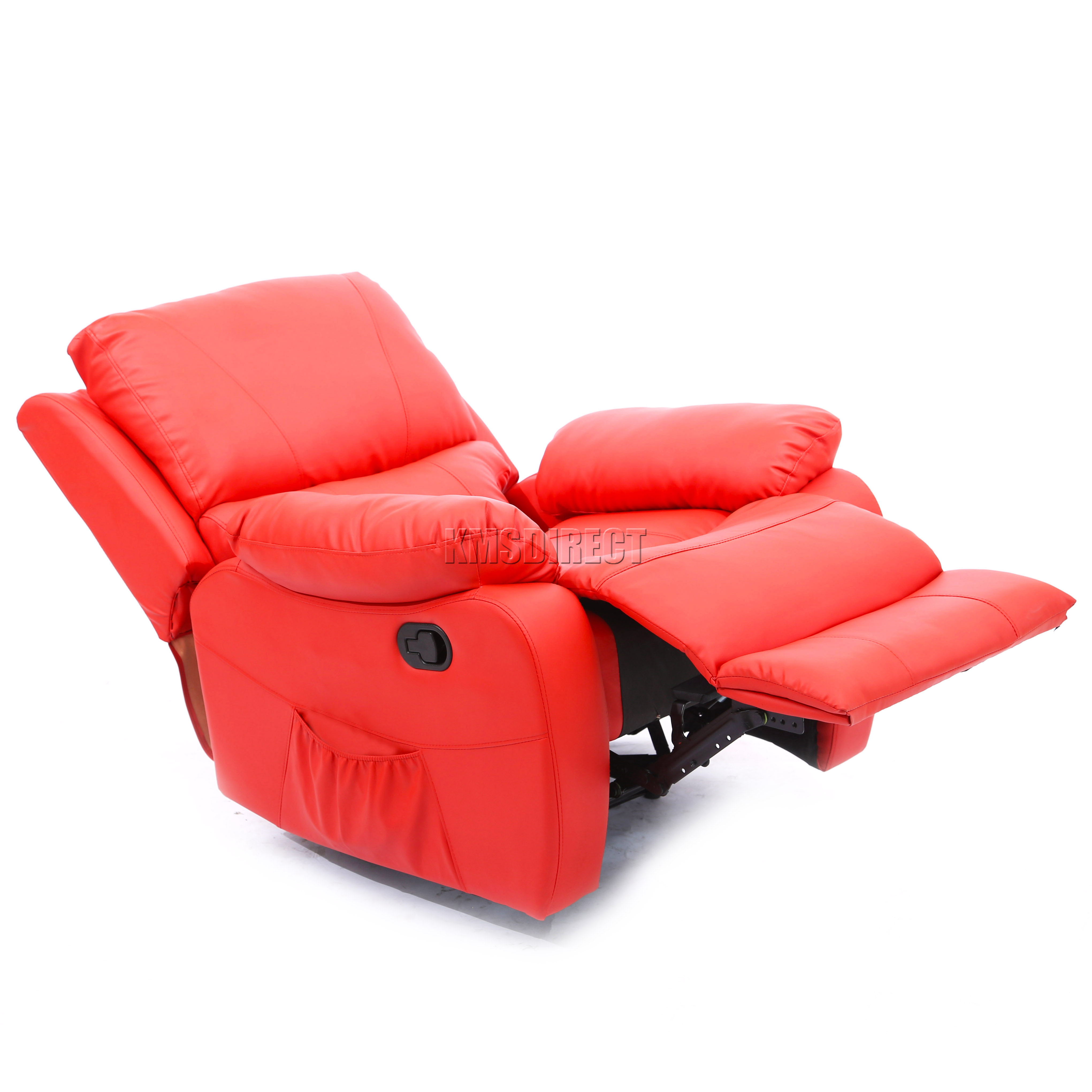 FoxHunter Luxury 1 Seater Leather Cinema Recliner Sofa Chair