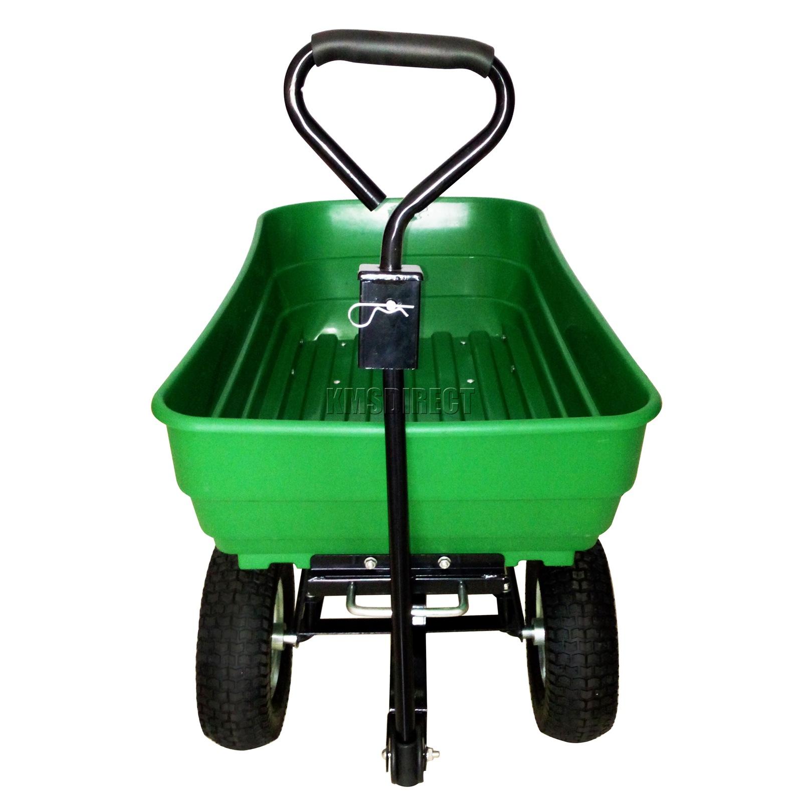FoxHunter-Heavy-Duty-Garden-Dump-Truck-Tipping-Trailer-Trolley-Cart-Wheelbarrow miniatuur 31