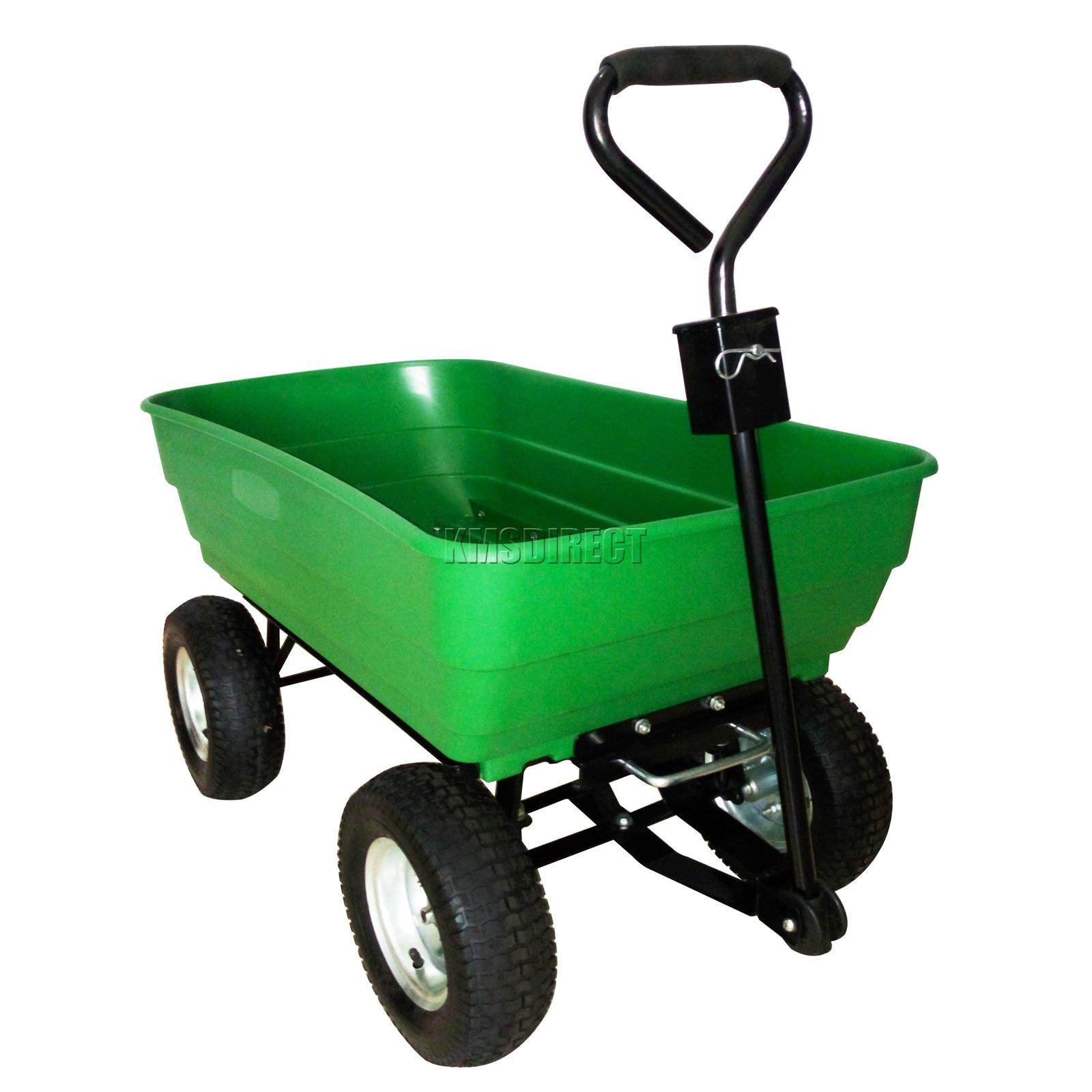 FoxHunter-Heavy-Duty-Garden-Dump-Truck-Tipping-Trailer-Trolley-Cart-Wheelbarrow miniatuur 32