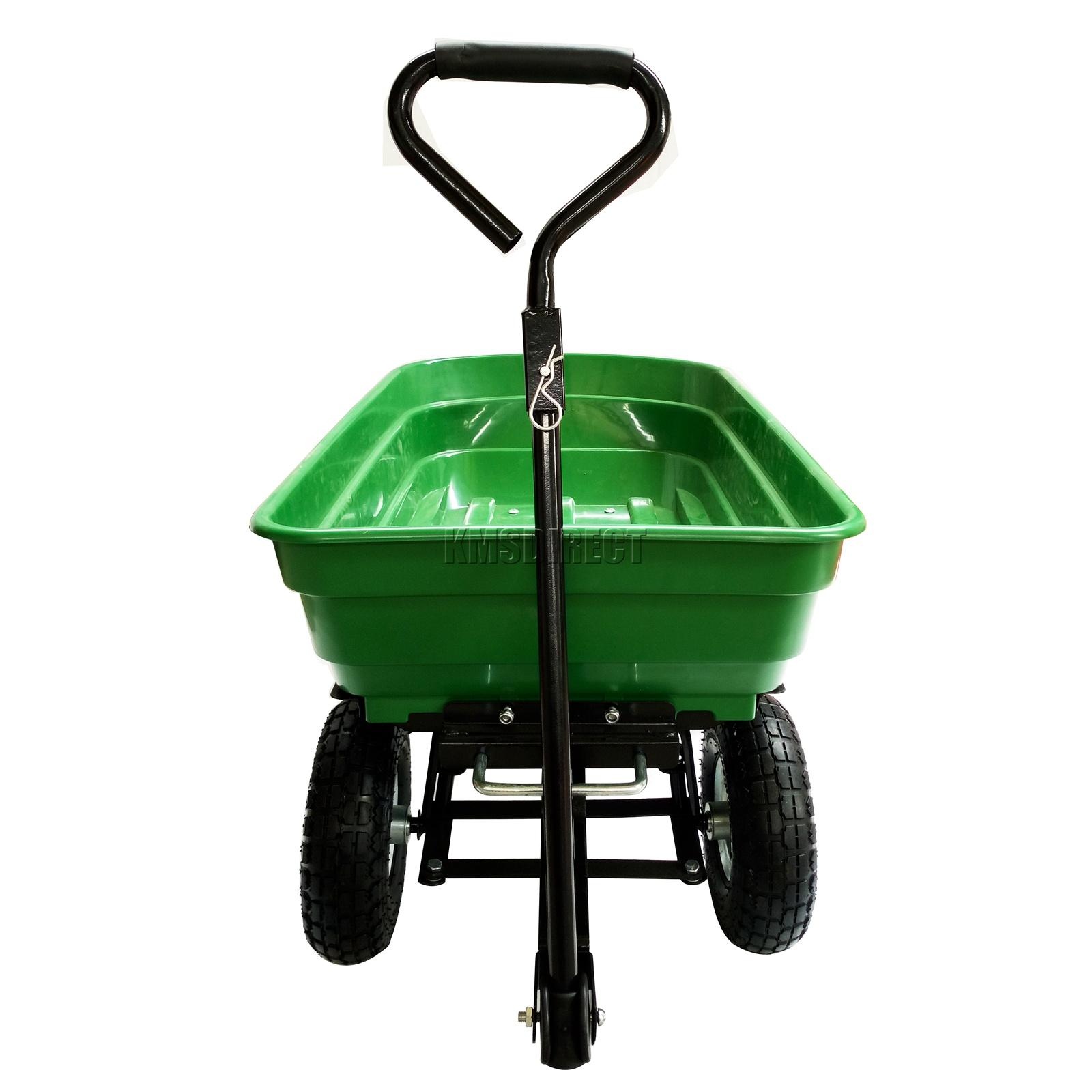 FoxHunter-Heavy-Duty-Garden-Dump-Truck-Tipping-Trailer-Trolley-Cart-Wheelbarrow miniatuur 34