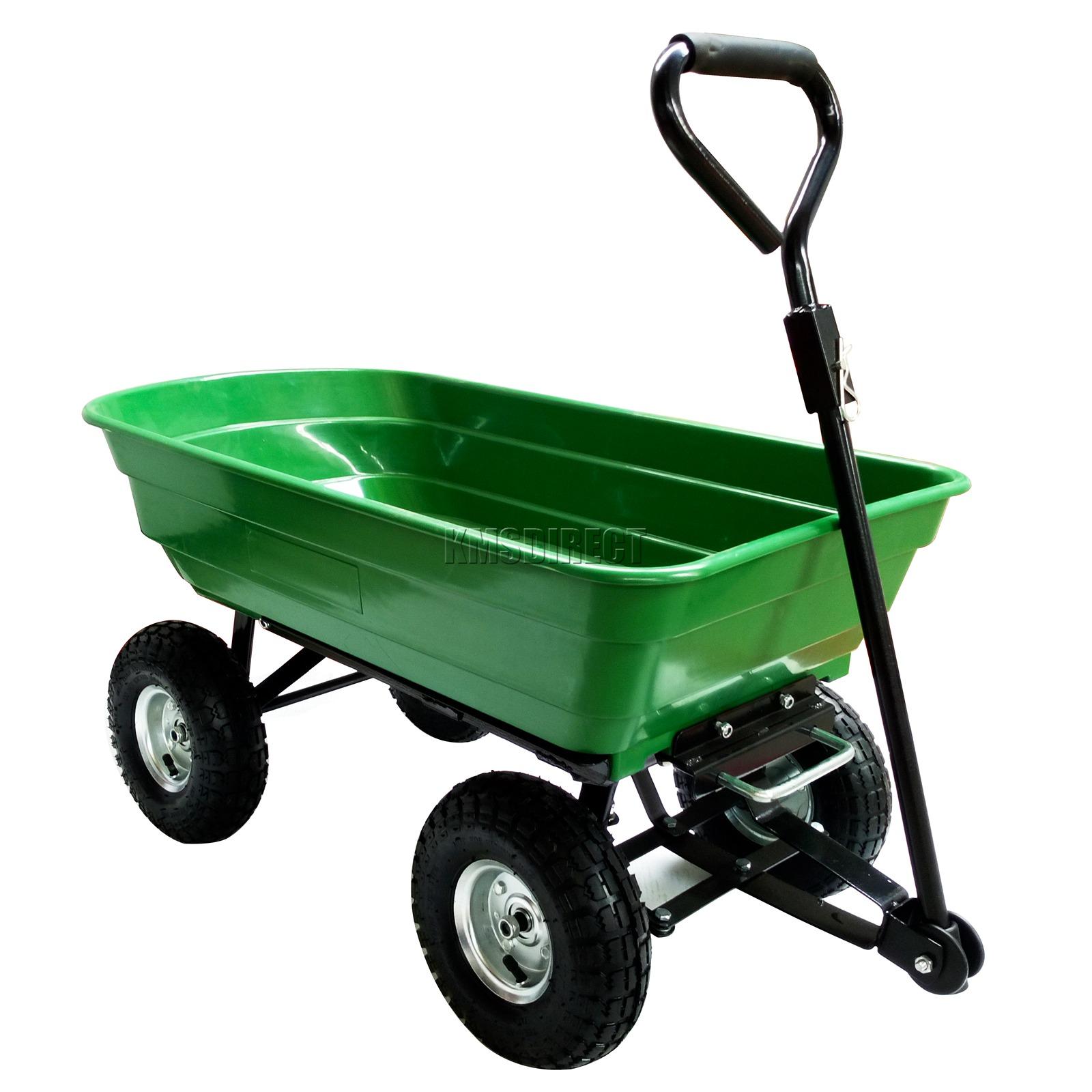 FoxHunter-Heavy-Duty-Garden-Dump-Truck-Tipping-Trailer-Trolley-Cart-Wheelbarrow miniatuur 35