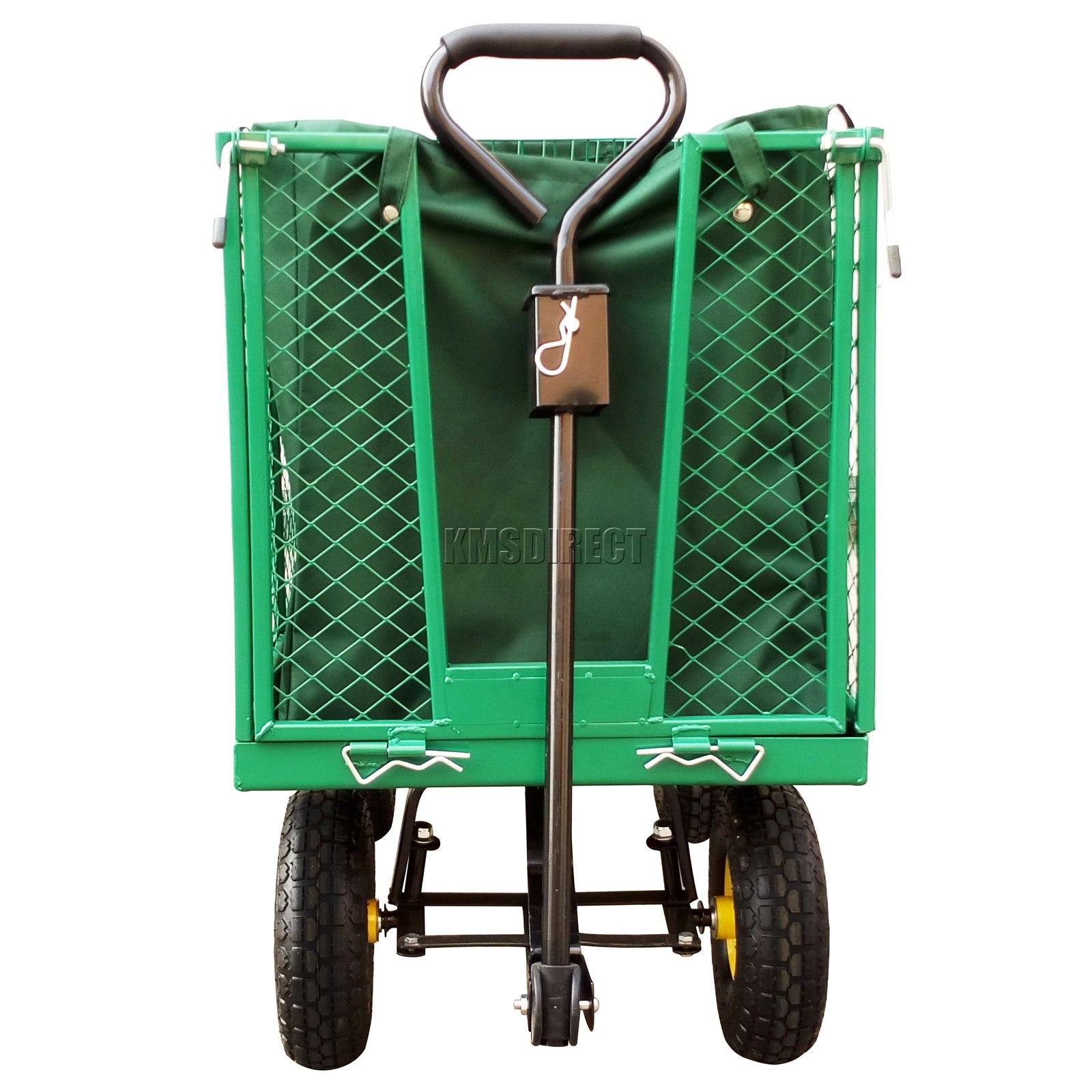 FoxHunter-Heavy-Duty-Garden-Dump-Truck-Tipping-Trailer-Trolley-Cart-Wheelbarrow miniatuur 13