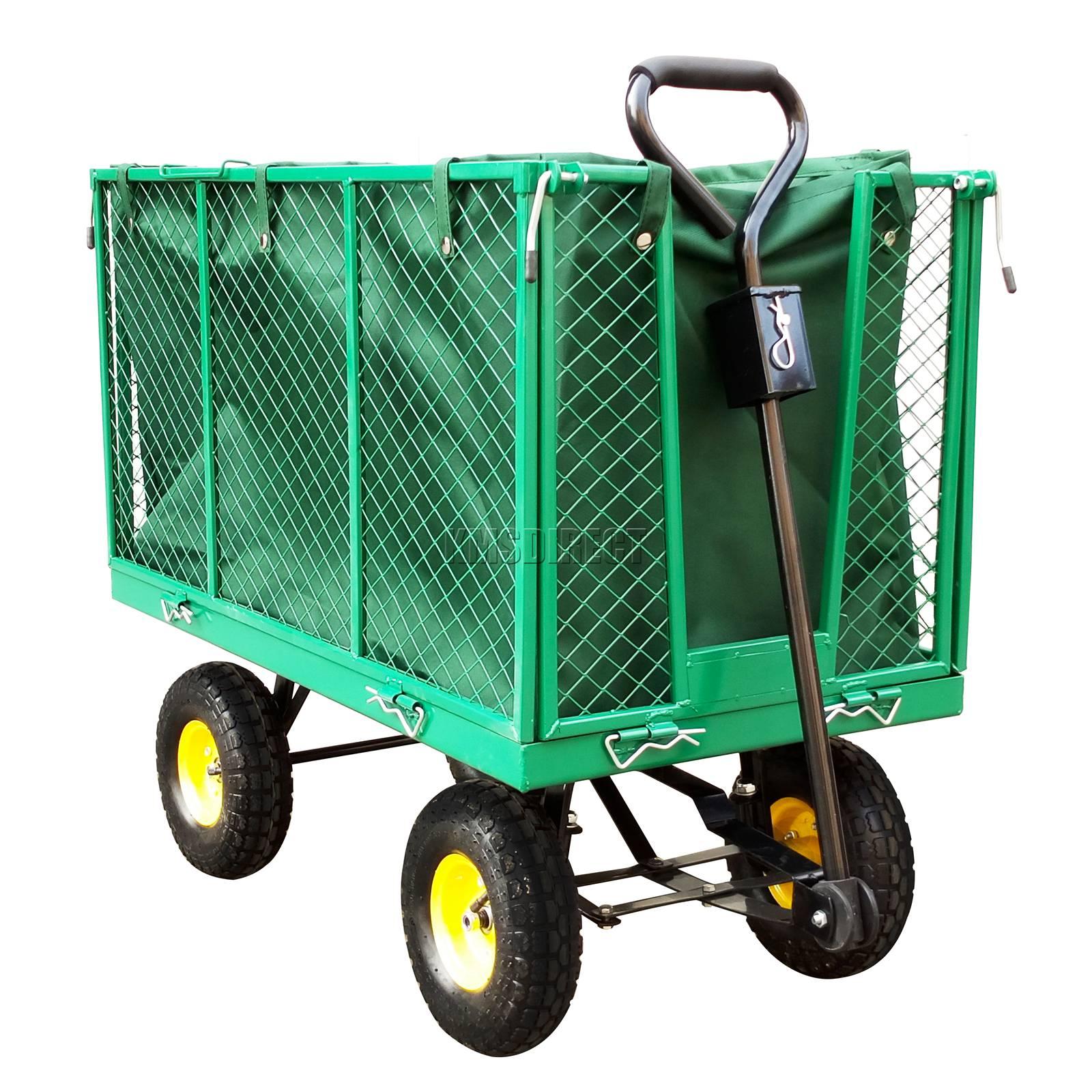 FoxHunter-Heavy-Duty-Garden-Dump-Truck-Tipping-Trailer-Trolley-Cart-Wheelbarrow miniatuur 14