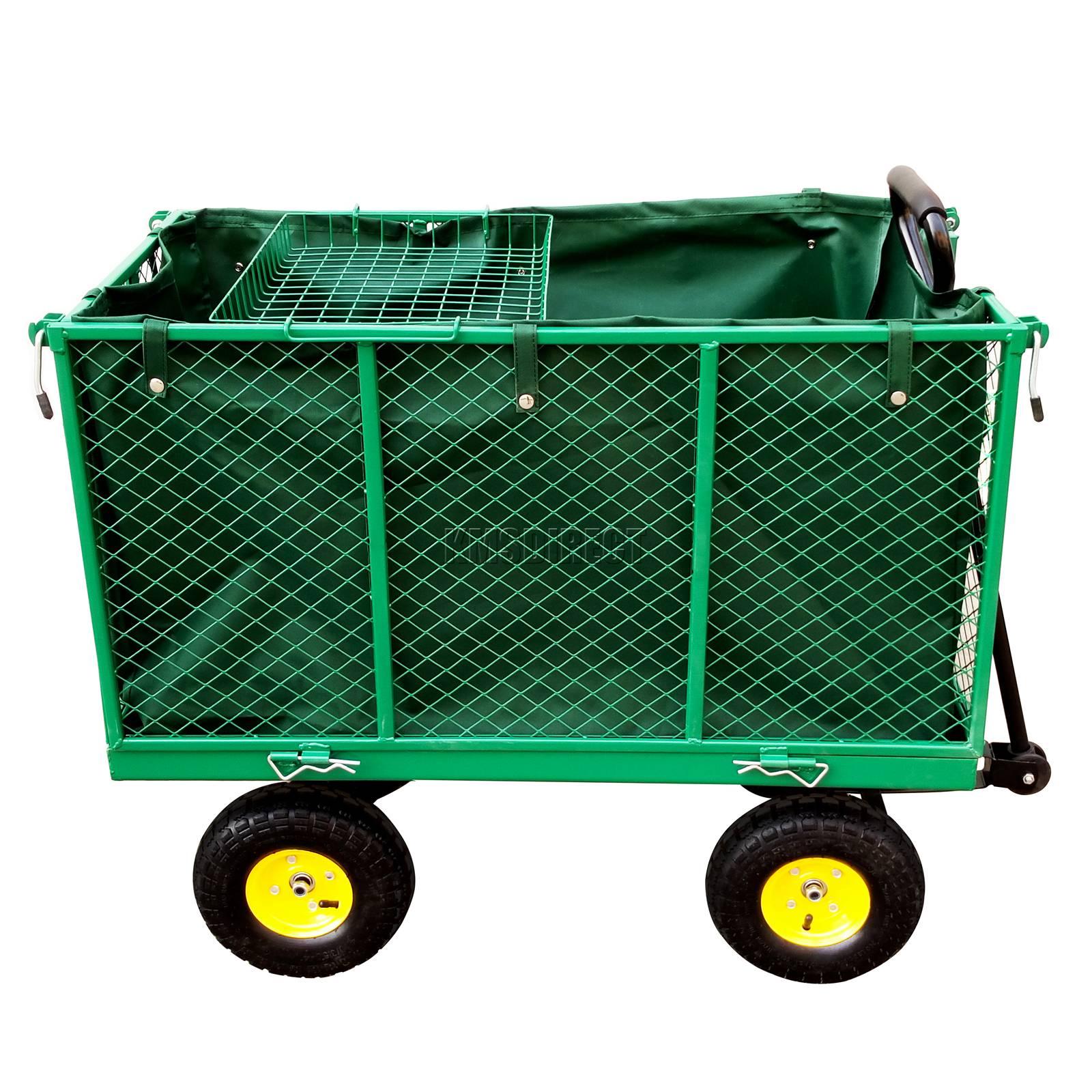 FoxHunter-Heavy-Duty-Garden-Dump-Truck-Tipping-Trailer-Trolley-Cart-Wheelbarrow miniatuur 15