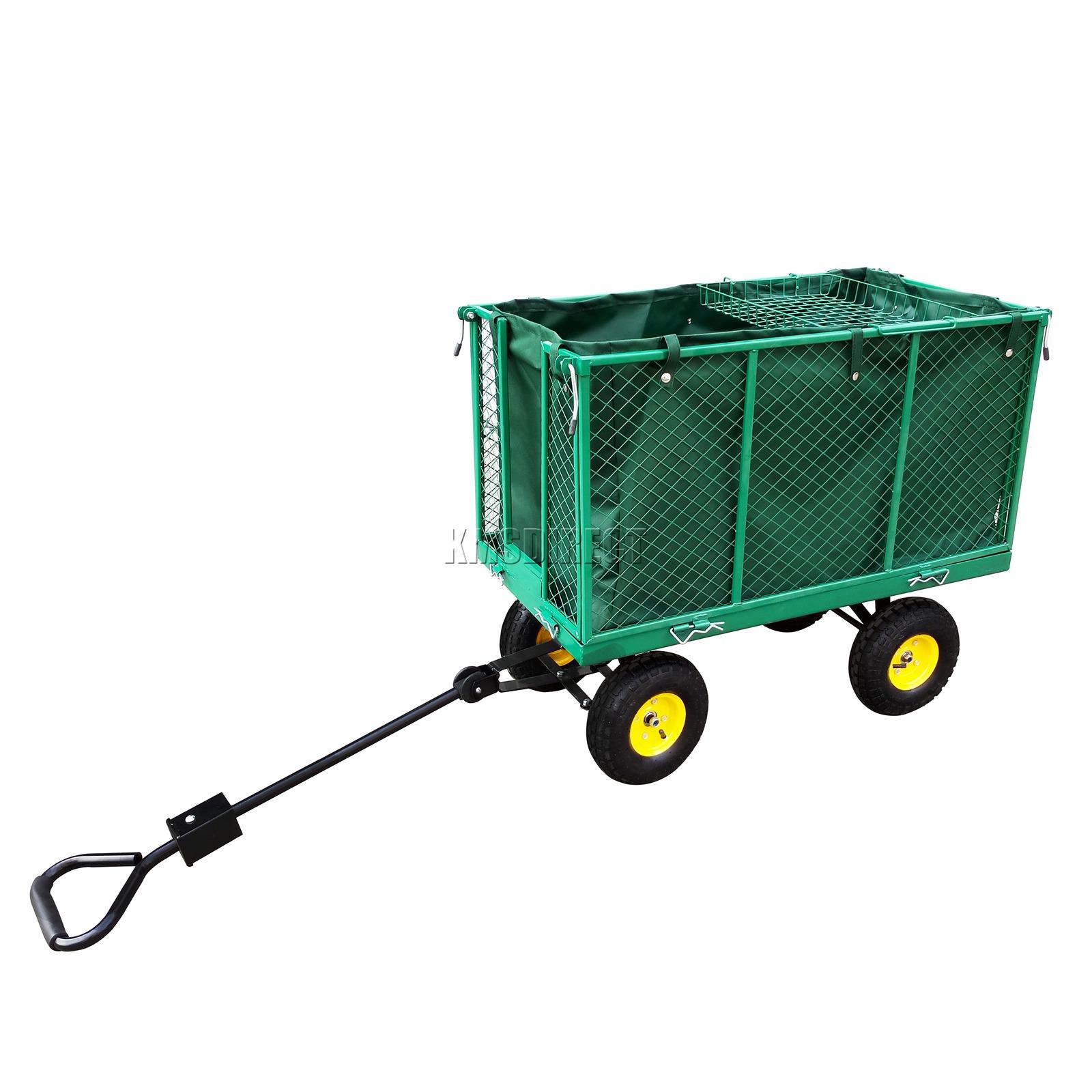 FoxHunter-Heavy-Duty-Garden-Dump-Truck-Tipping-Trailer-Trolley-Cart-Wheelbarrow miniatuur 17