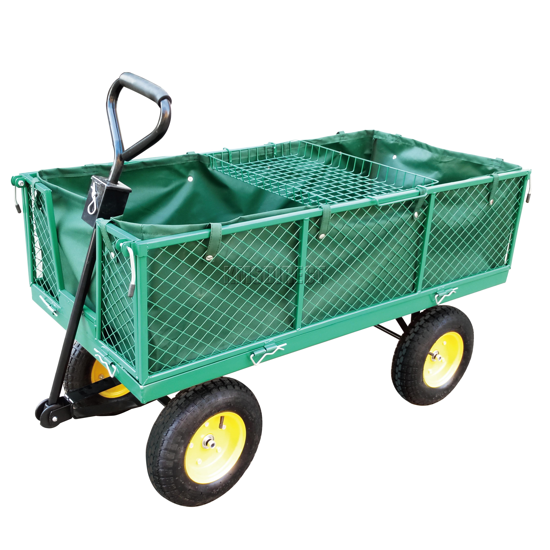 foxhunter heavy duty garden dump truck tipping trailer trolley cart wheelbarrow ebay. Black Bedroom Furniture Sets. Home Design Ideas