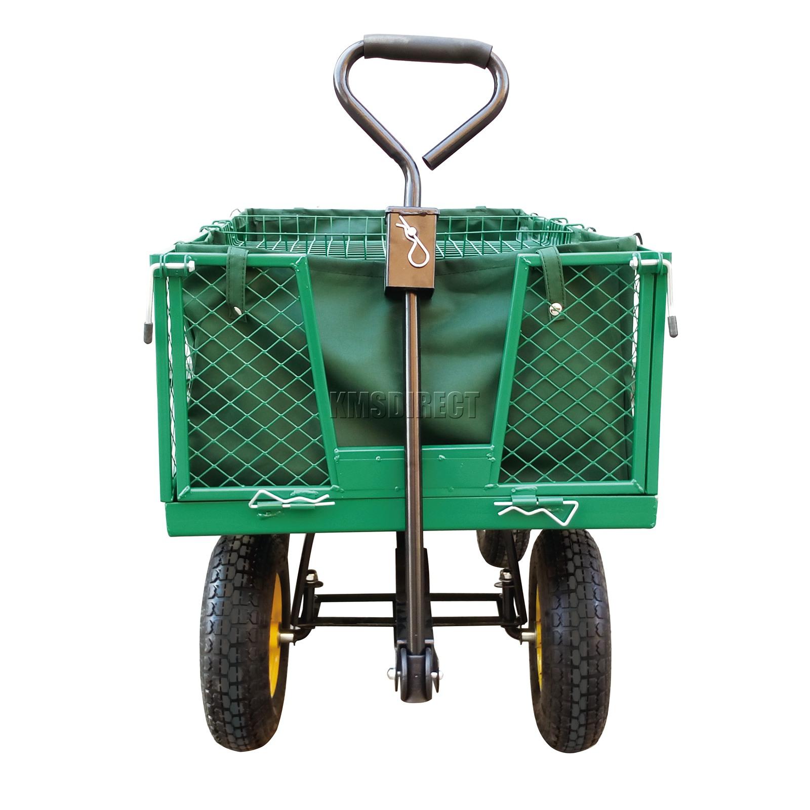 FoxHunter-Heavy-Duty-Garden-Dump-Truck-Tipping-Trailer-Trolley-Cart-Wheelbarrow miniatuur 22