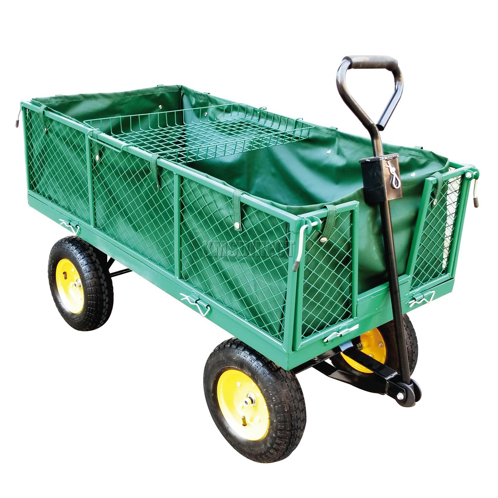FoxHunter-Heavy-Duty-Garden-Dump-Truck-Tipping-Trailer-Trolley-Cart-Wheelbarrow miniatuur 23