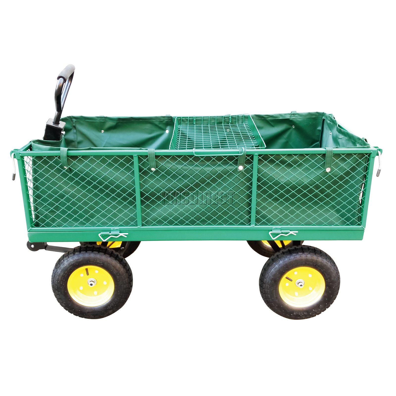 FoxHunter-Heavy-Duty-Garden-Dump-Truck-Tipping-Trailer-Trolley-Cart-Wheelbarrow miniatuur 24