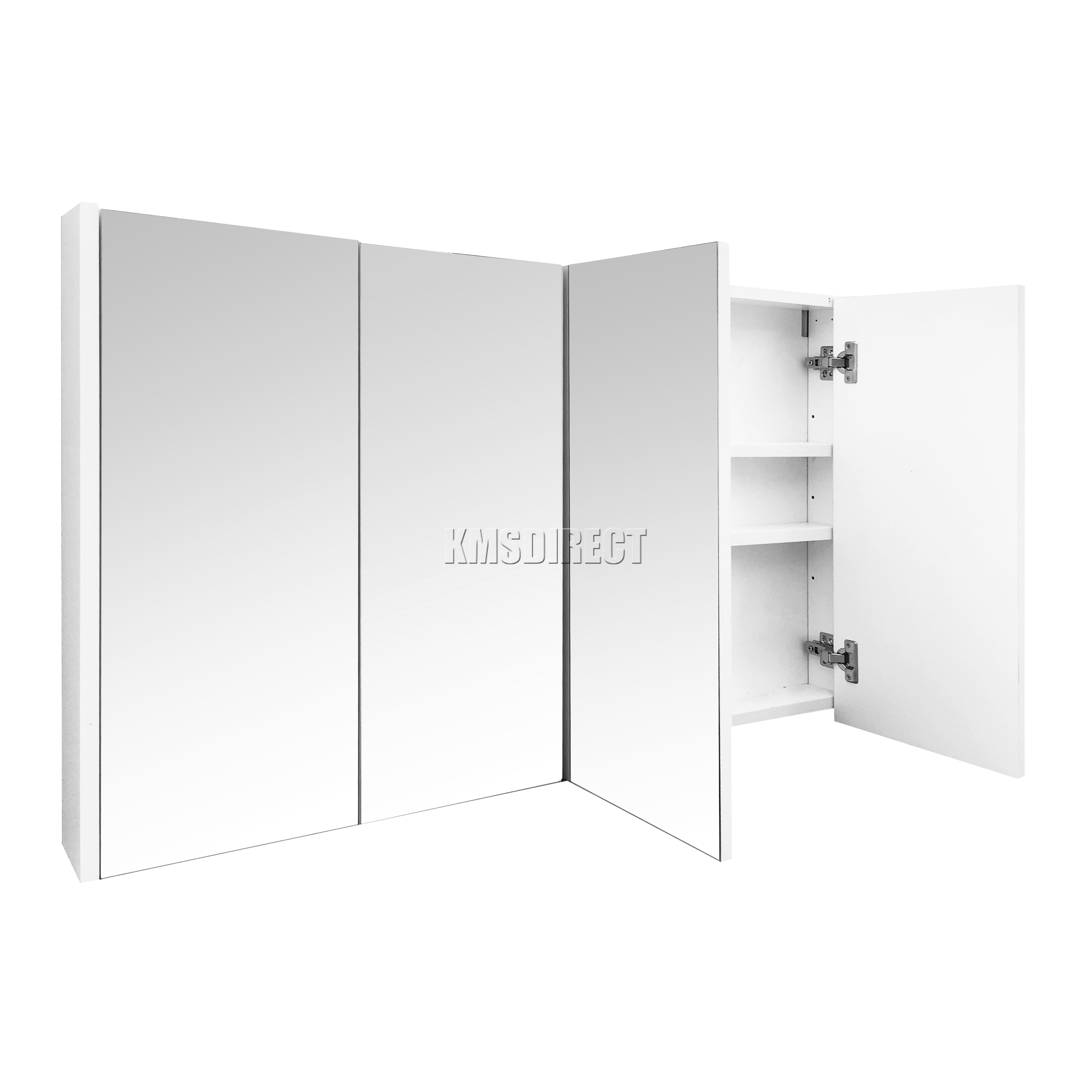 Westwood triple 4 puertas soporte de pared espejo gabinete for Armario almacenaje bano