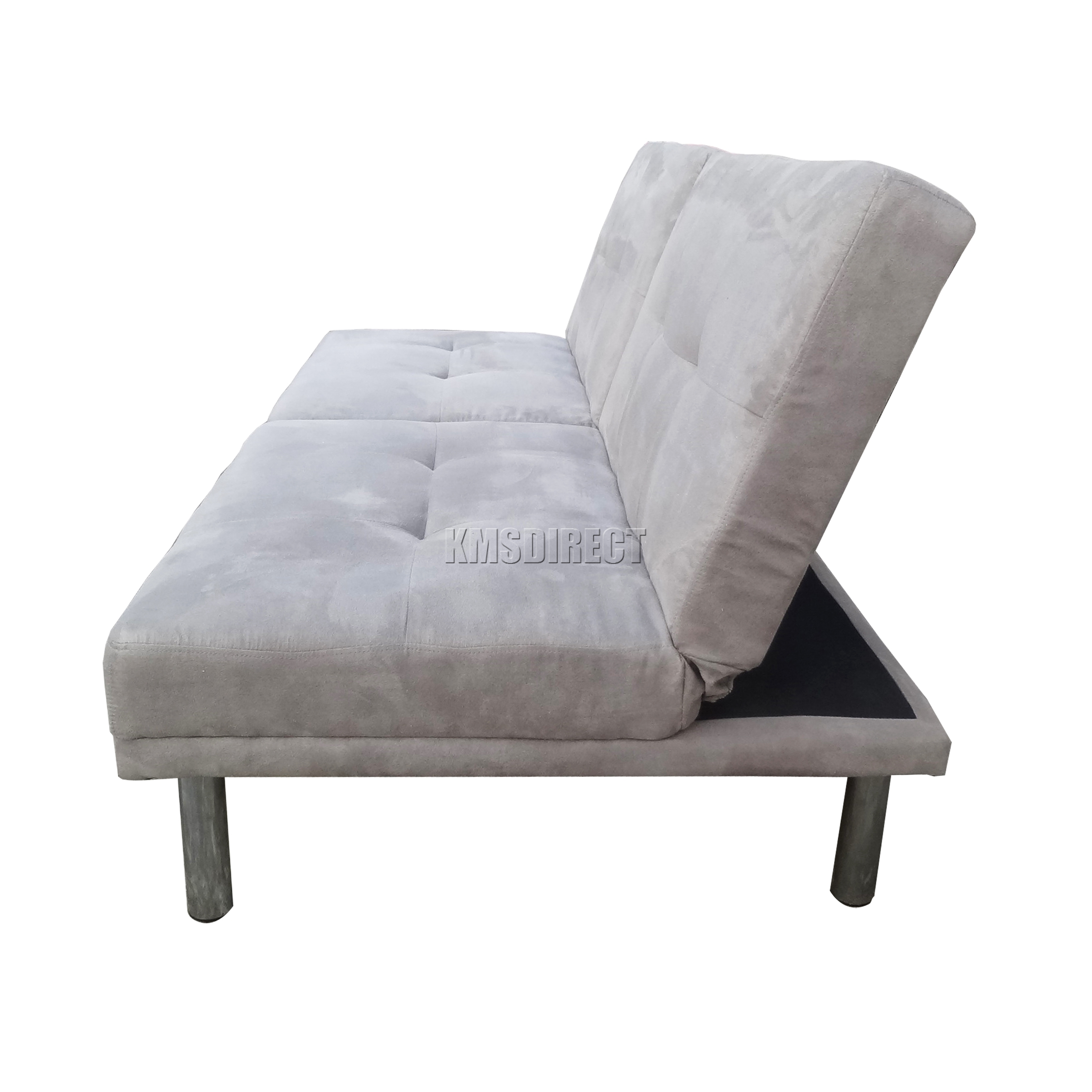 Foxhunter Fabric Faux Suede Sofa Bed Recliner 2 Seater
