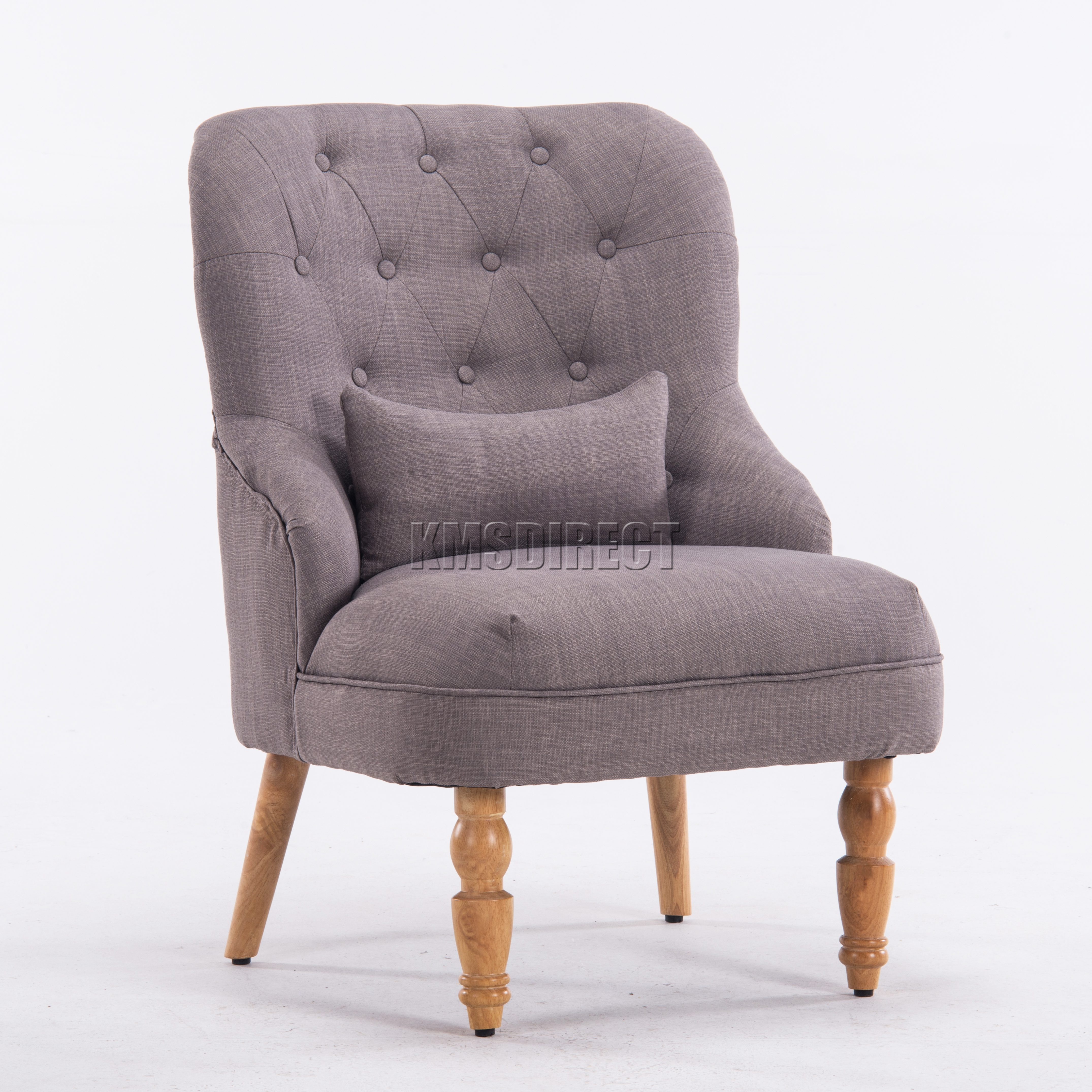 Foxhunter linen fabric tub chair armchair dining living - Fabric rocking chairs living room ...
