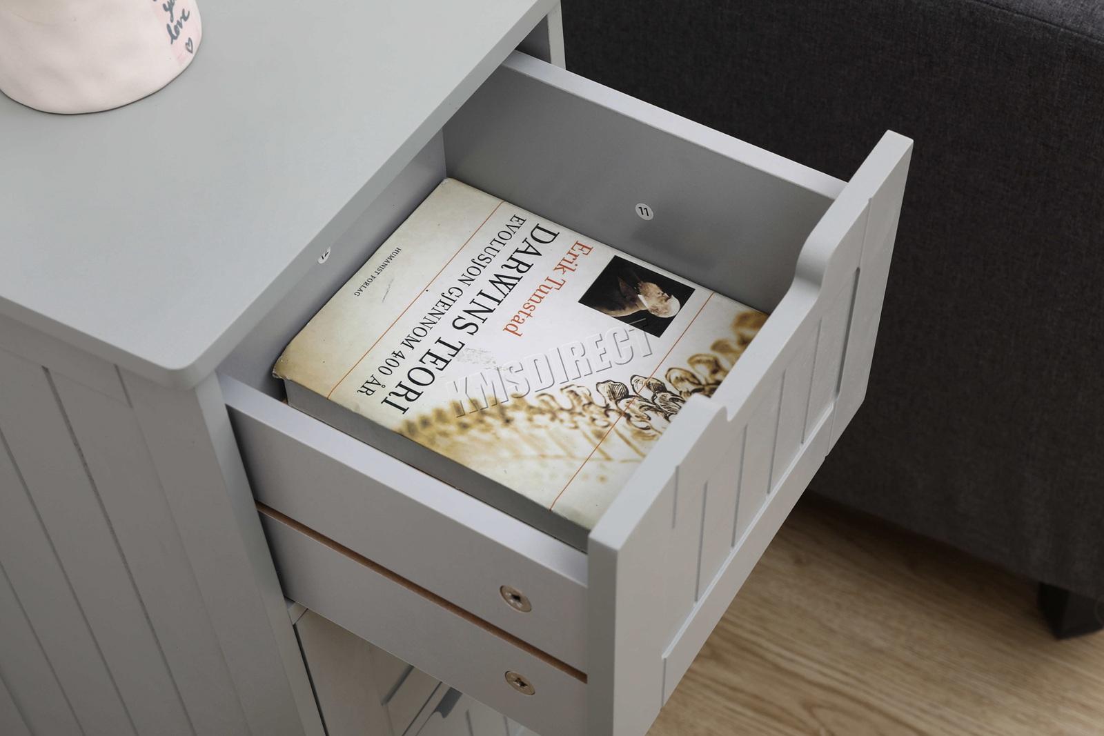 4c5c6319d725 Sentinel WestWood Bathroom Storage Cabinet Wooden 4 Drawer Cupboard Free  Standing Unit