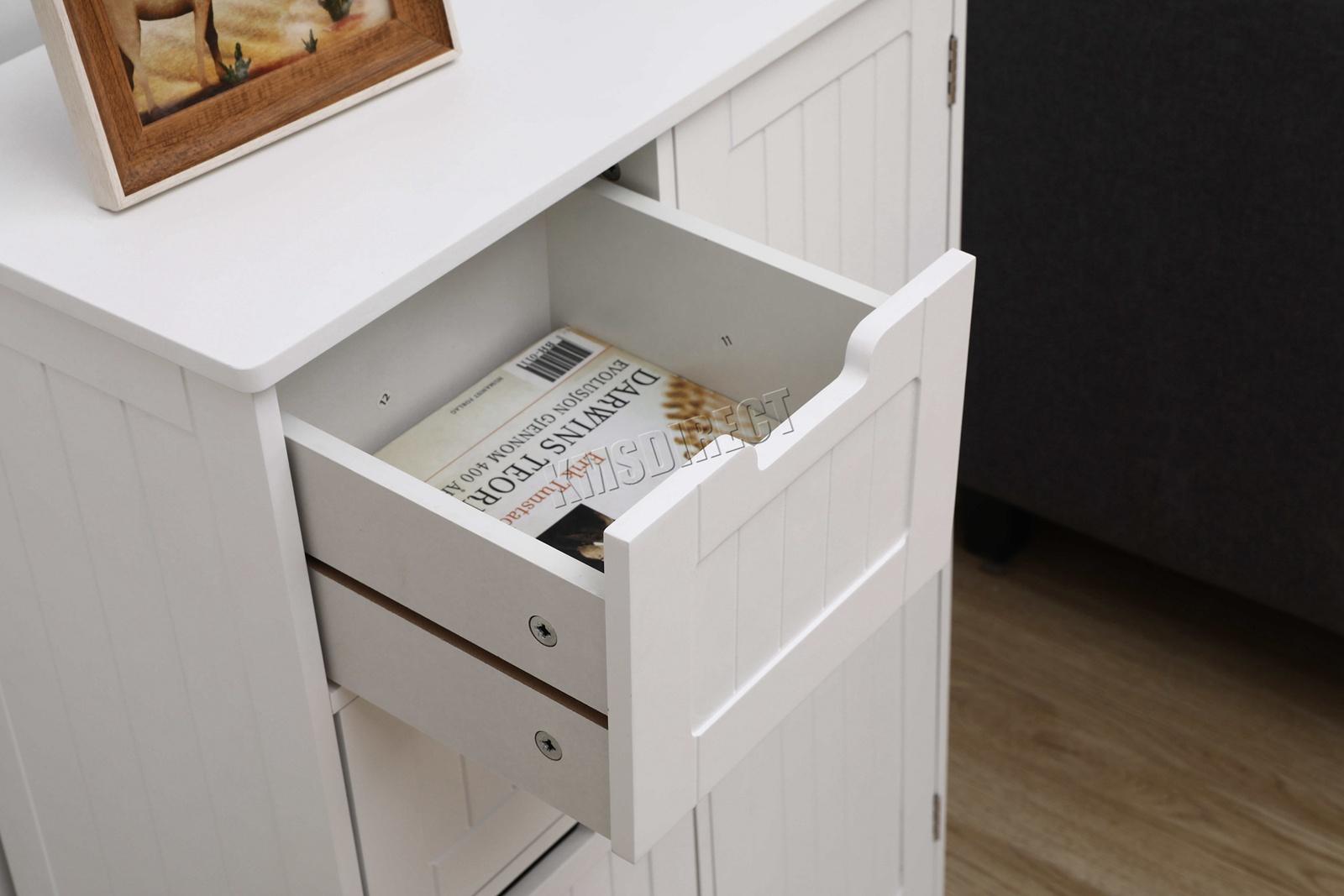 a2da1dd52e99 WestWood Bathroom Storage Cabinet Wooden 4 Drawer Cupboard Free ...