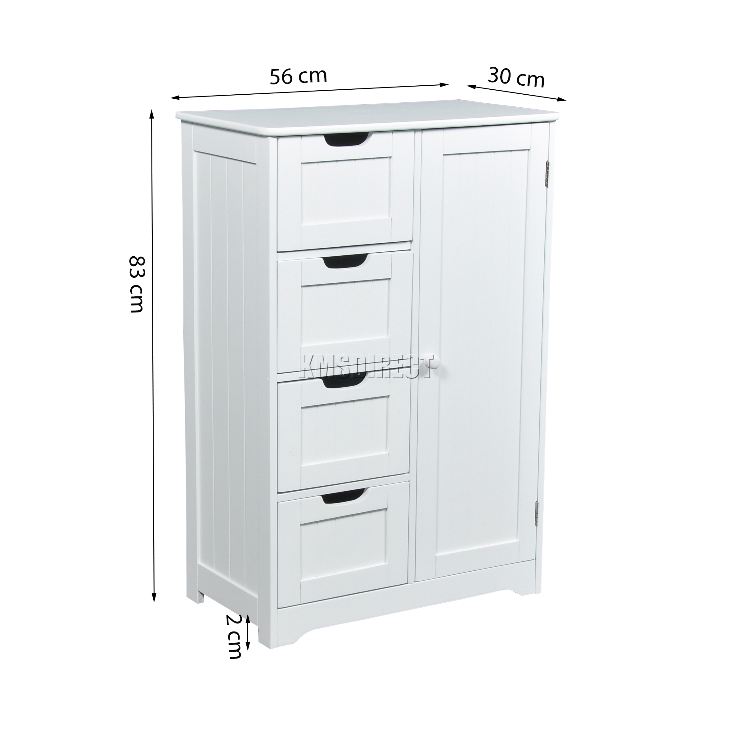 bathroom cabinets free standing white foxhunter white wooden 4 drawer bathroom storage cupboard 11285