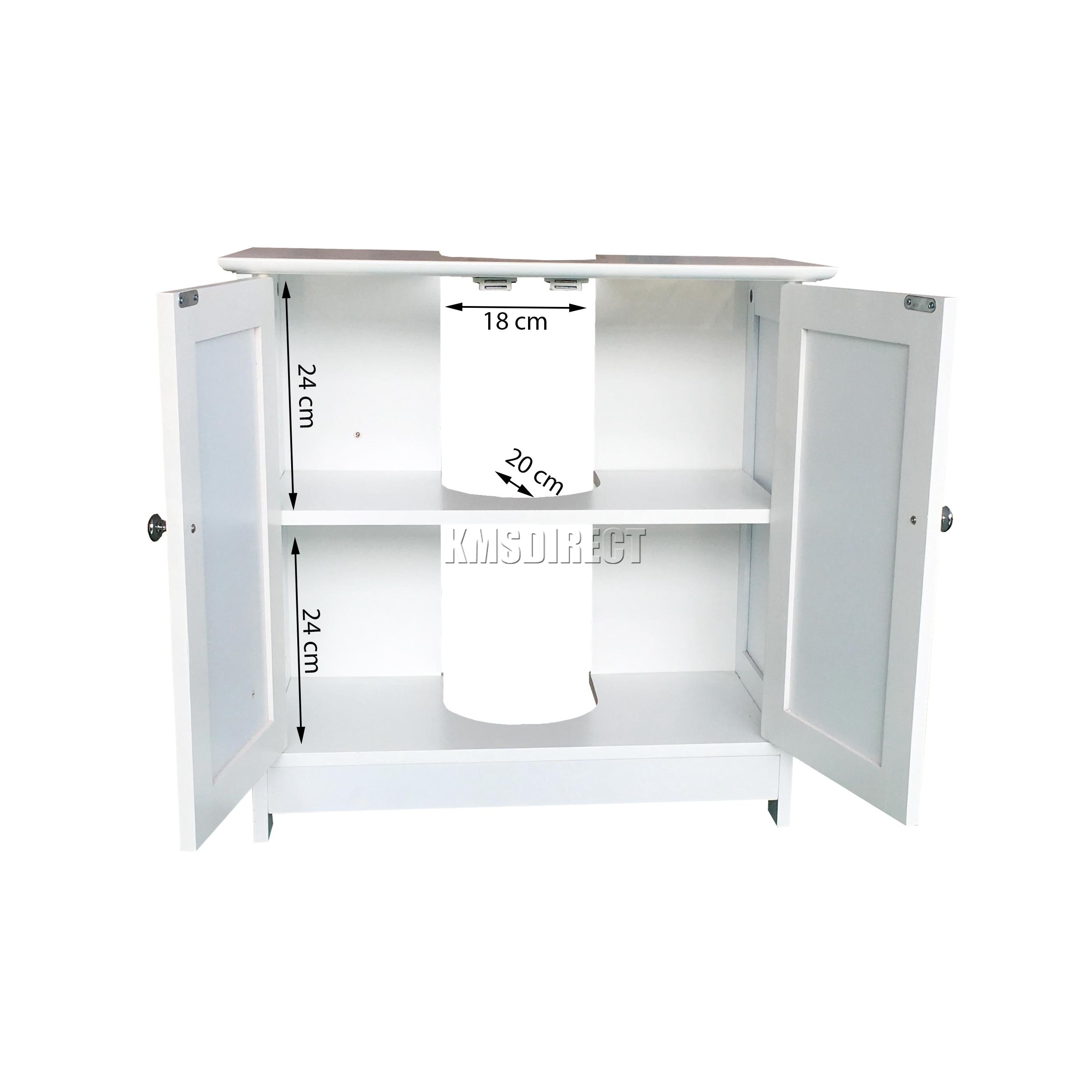 Foxhunter unidad madera bajo lavado lavabo gabinete de for Armario almacenaje bano