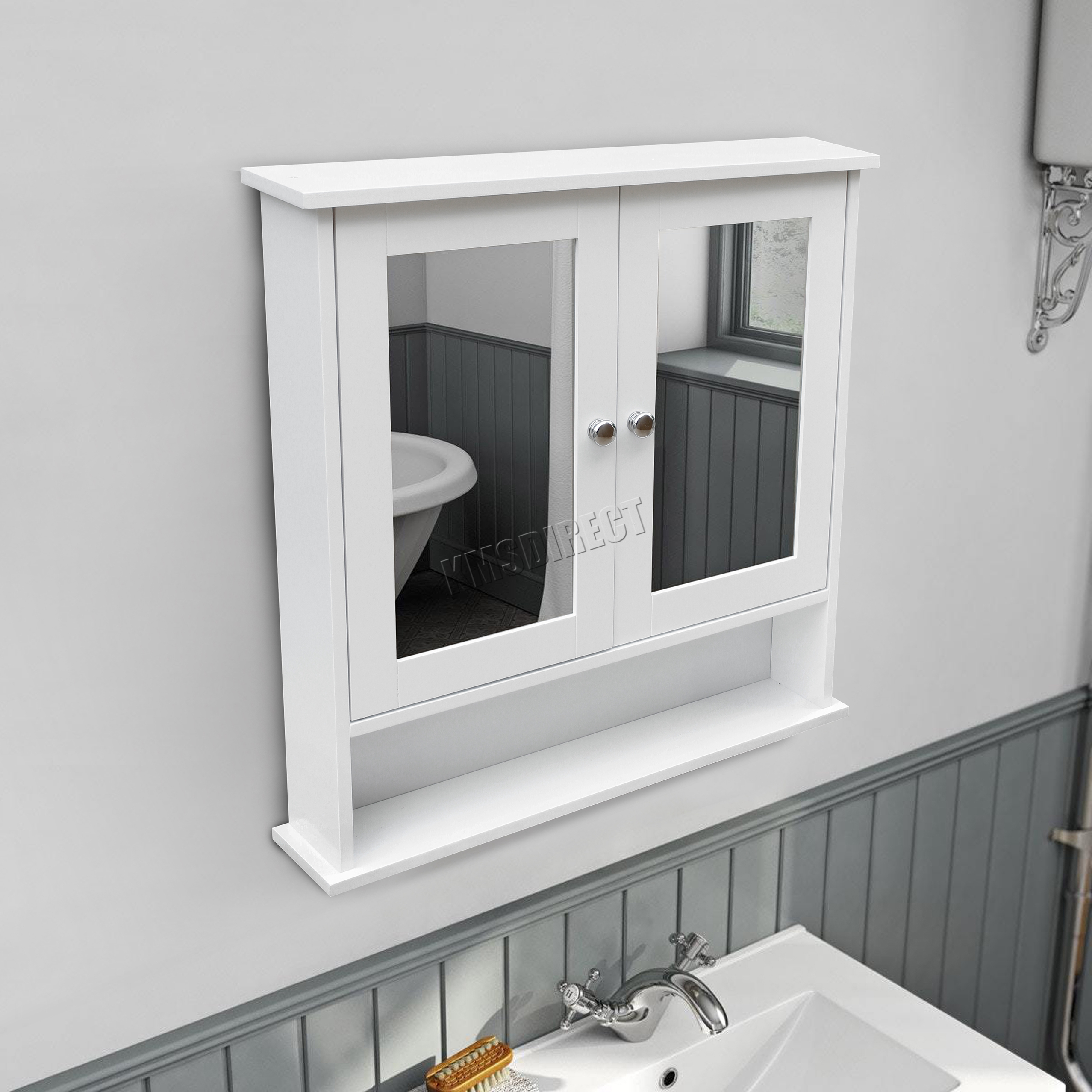 Foxhunter support mural miroir meuble salle bain unit for Placard salle de bain miroir