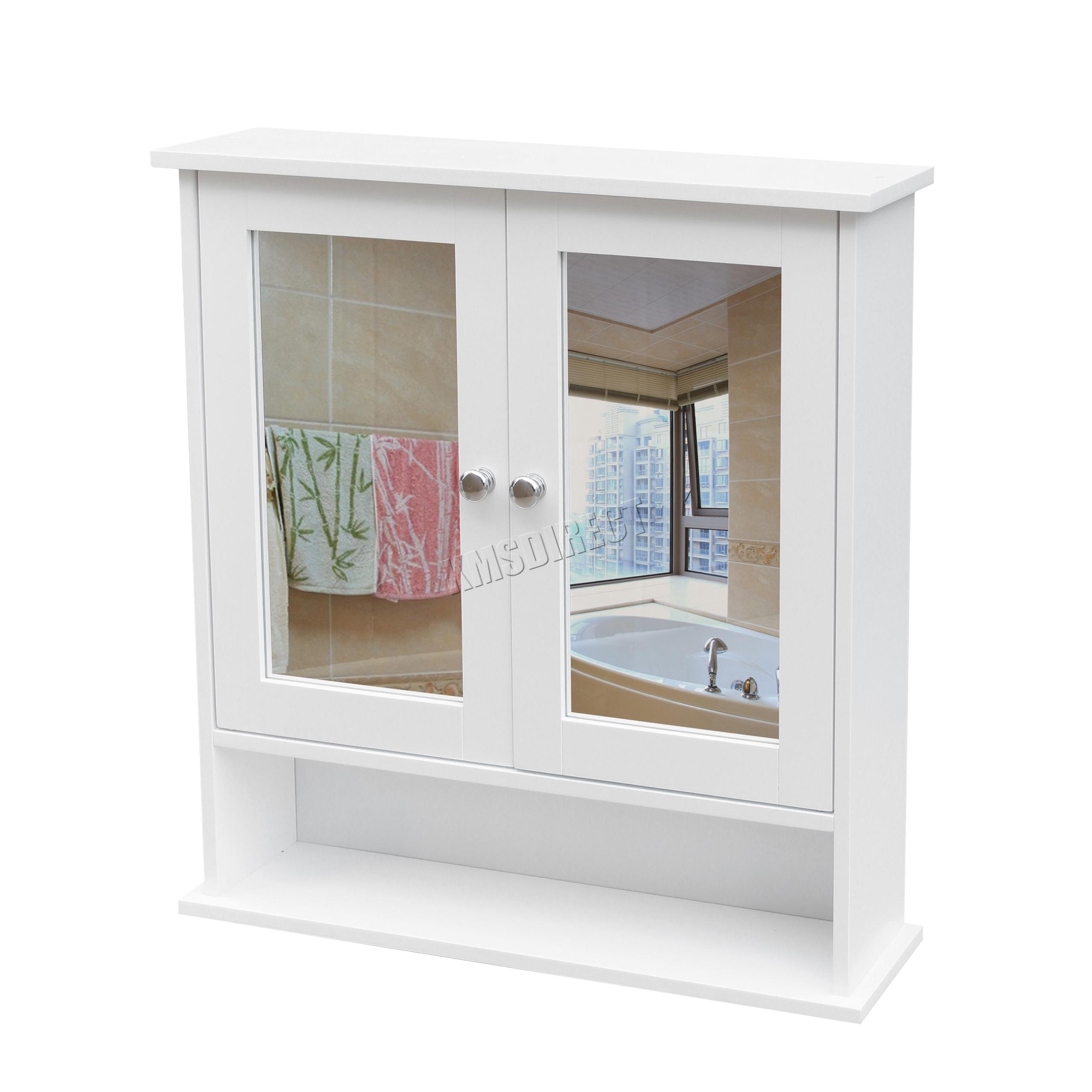 Foxhunter soporte de pared espejo gabinete de ba o unidad for Espejo con almacenaje