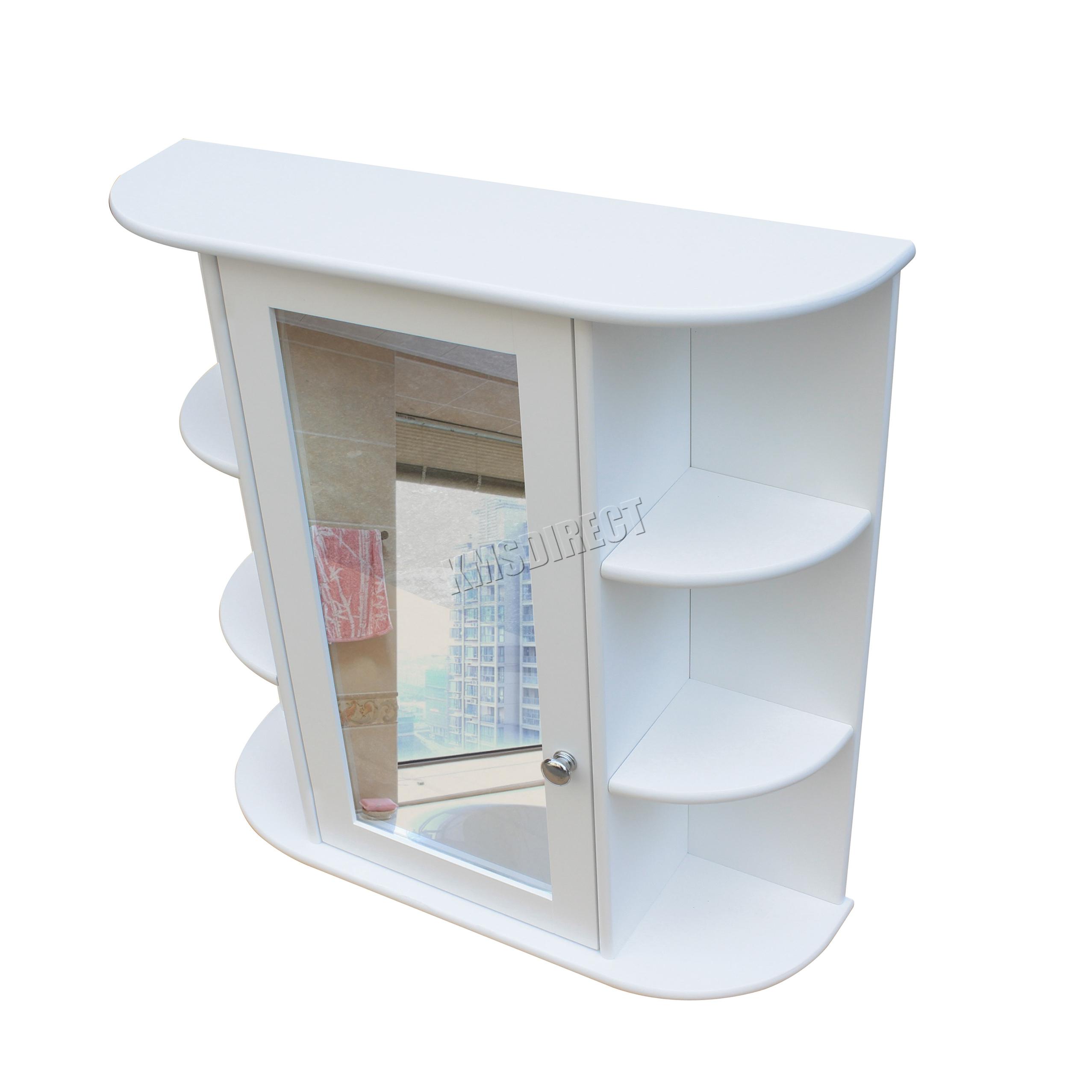 Foxhunter soporte de pared espejo gabinete de ba o unidad for Armario almacenaje bano