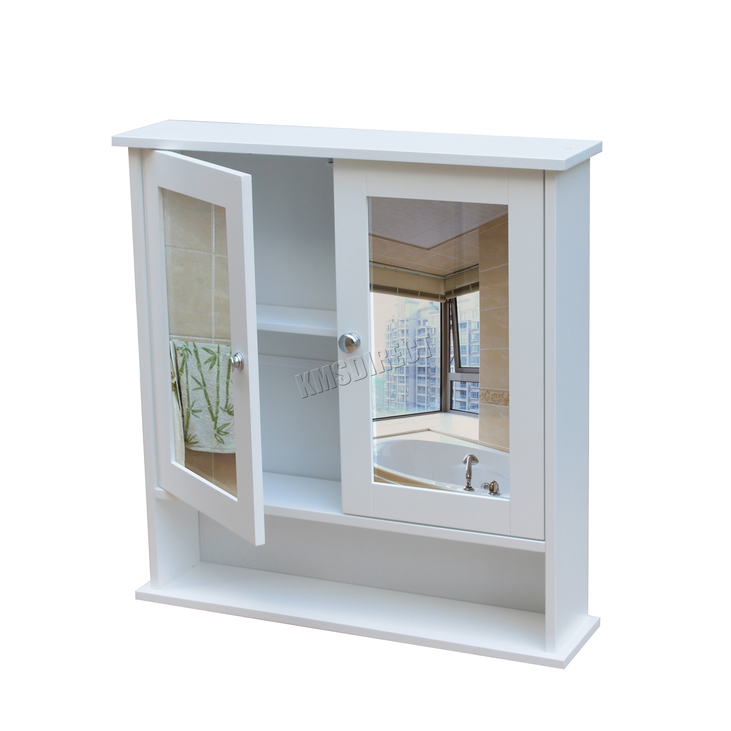 WestWood Wall Mount Mirror Bathroom Cabinet Unit Storage Cupboard ...