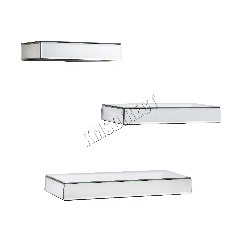 FoxHunter-Bevelled-Mirrored-Furniture-Glass-Floating-Shelves-Set-