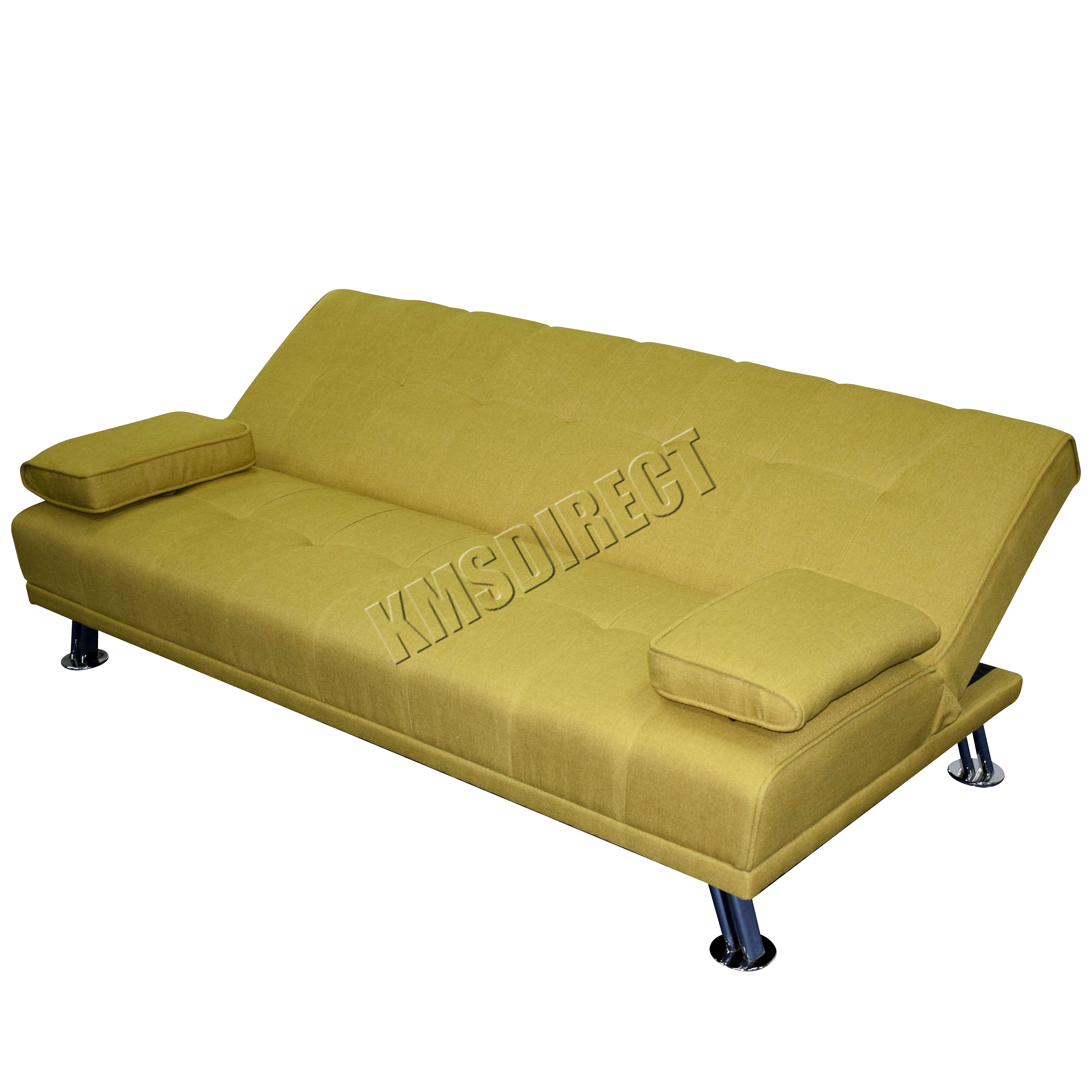 Westwood tissu gros sofa lit fauteuil inclinable 3 places for Canape lit design luxe