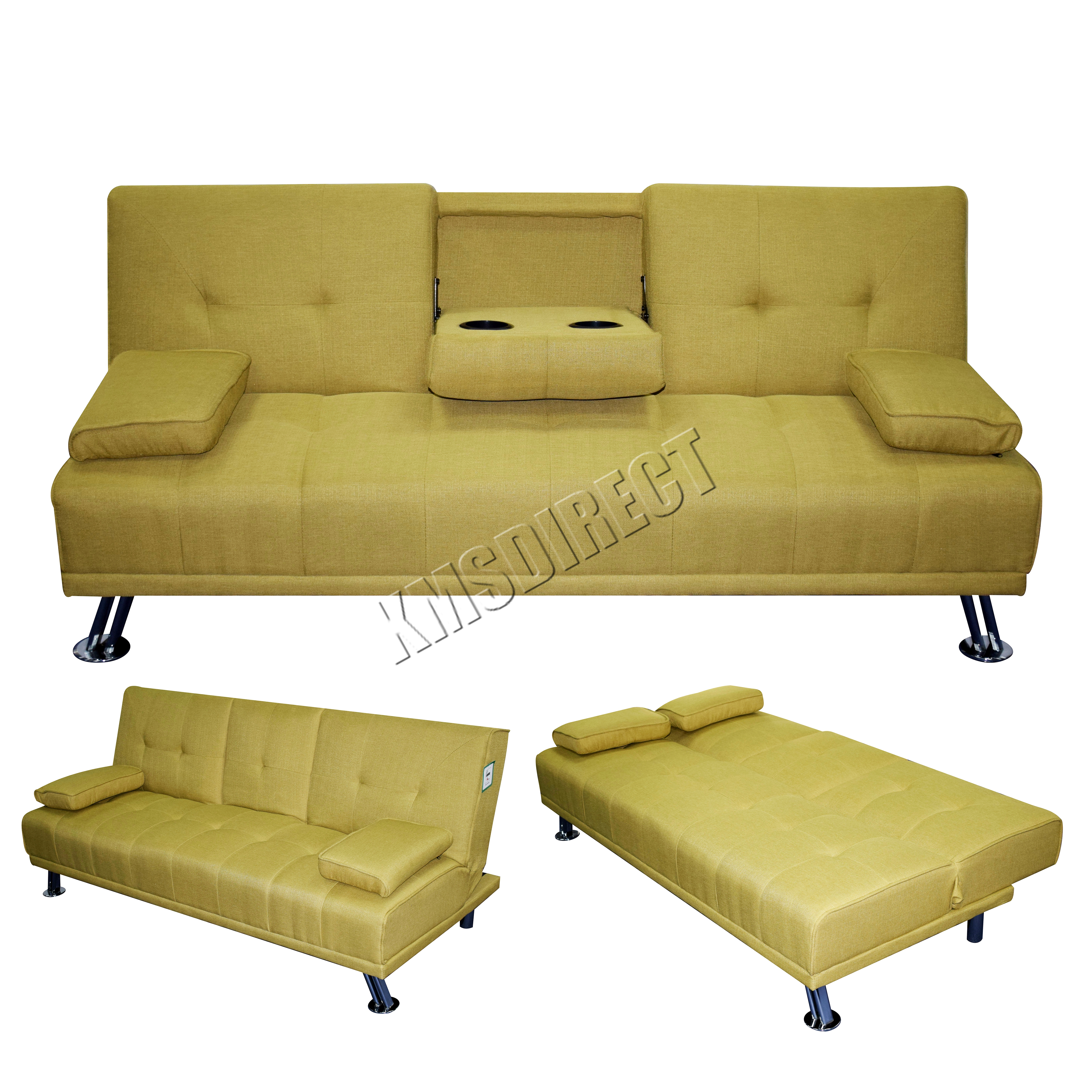 Foxhunter Fabric Manhattan Sofa Bed Recliner 3 Seater