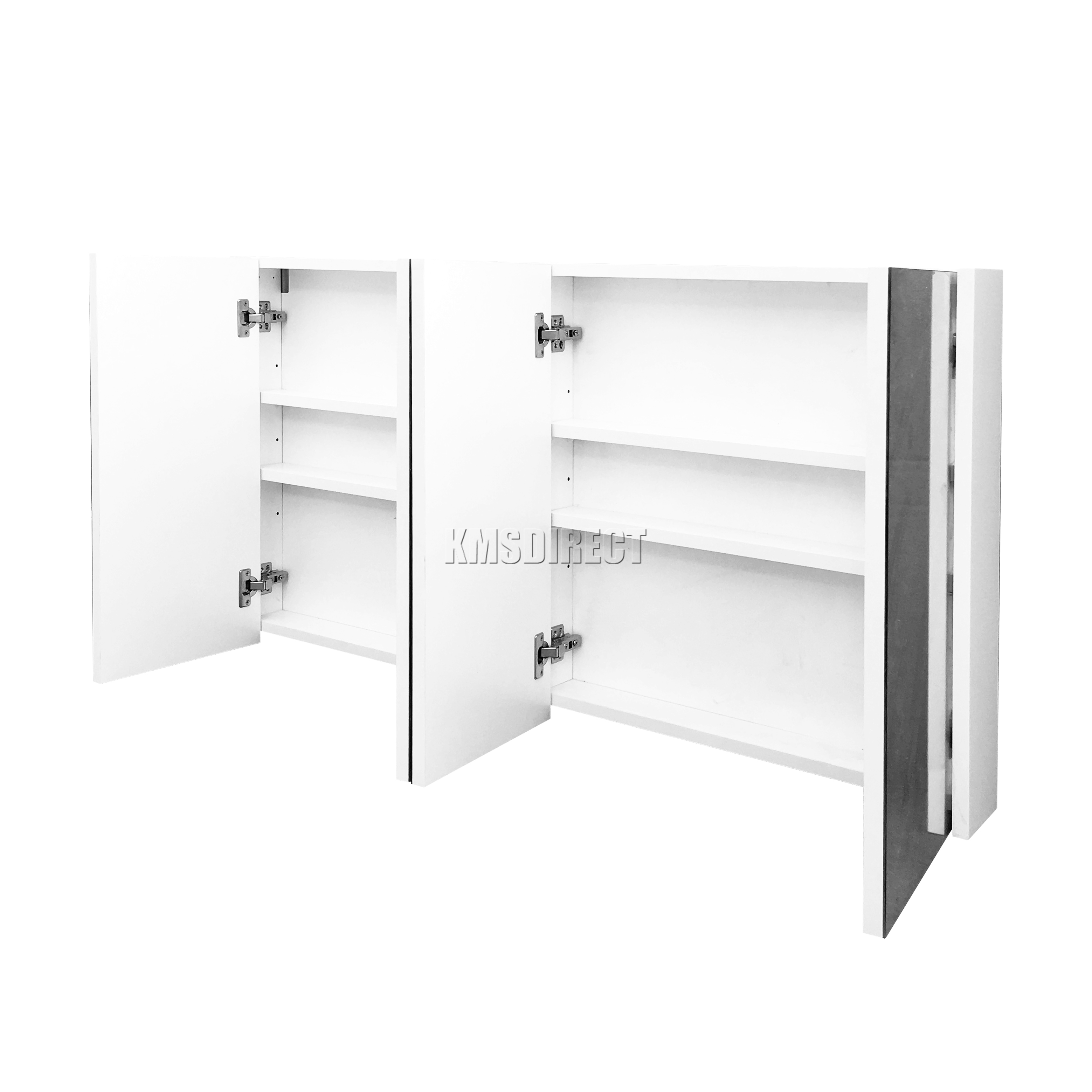 WestWood Triple 4 Door Wall Mount Mirror Bathroom Cabinet Storage ...