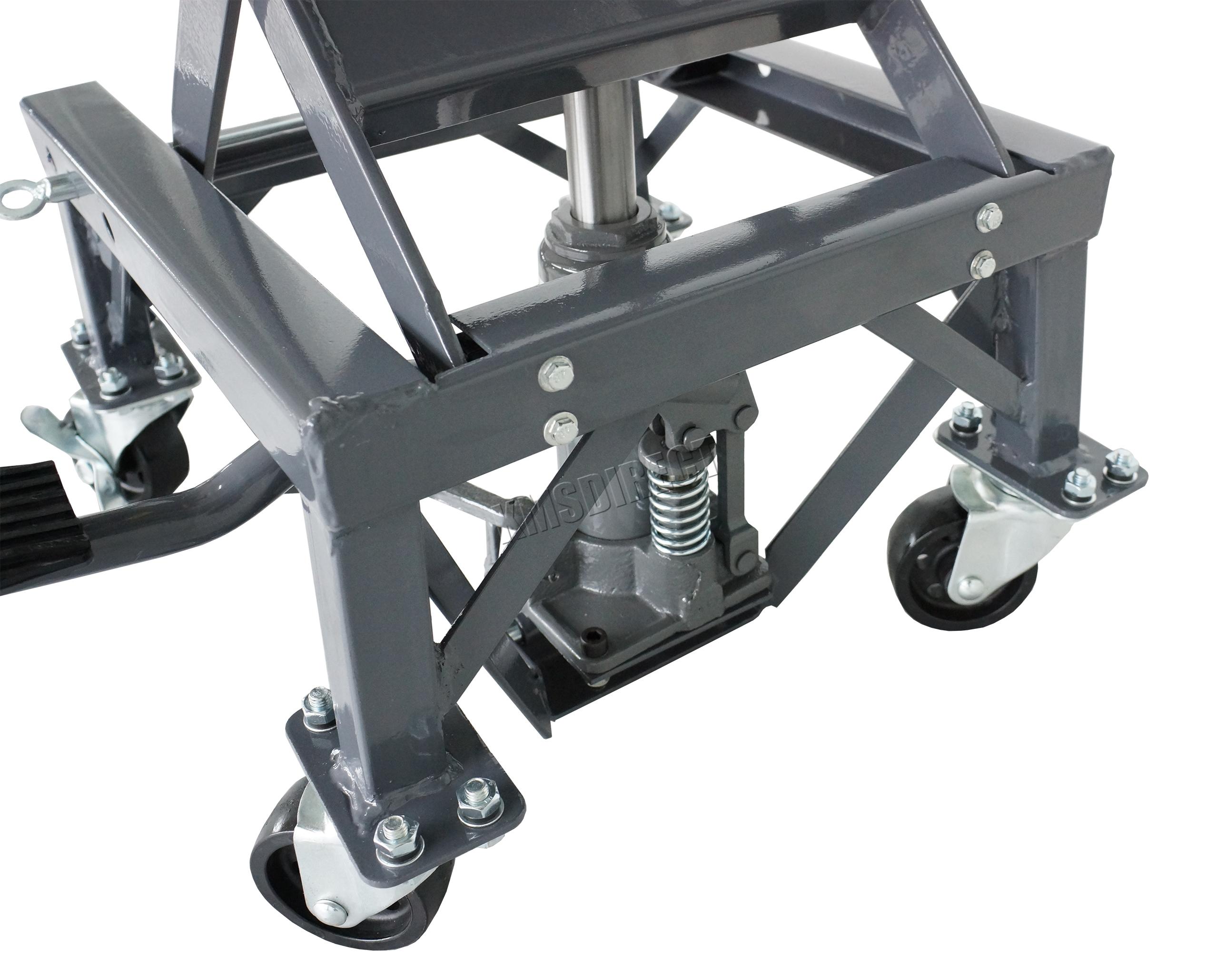 Hydraulic Motorcycle Lift : Hydraulic scissor lb bike motorcycle lift with wheel