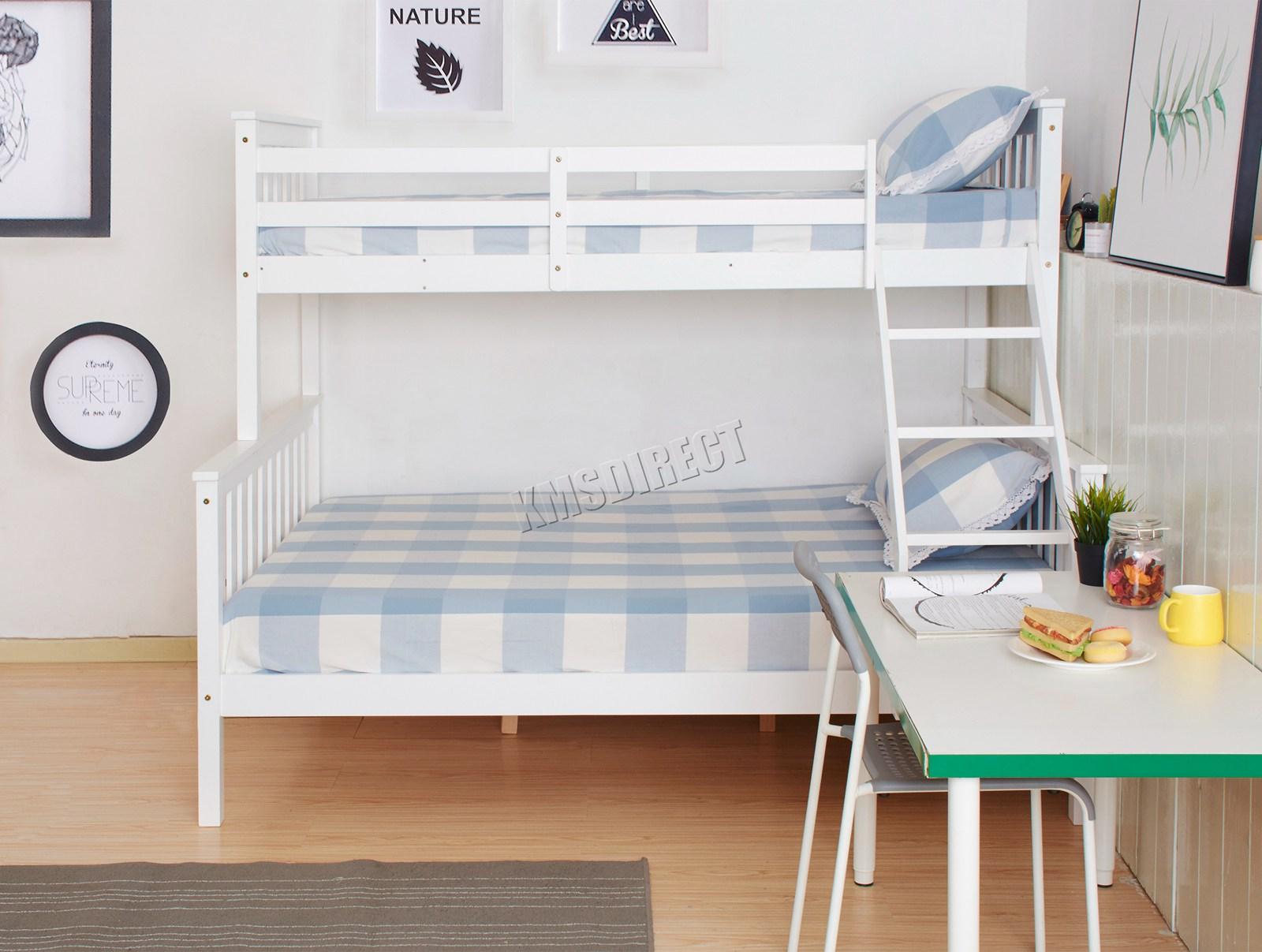 Westwood New Detachable Bunk Beds Wood Frame Children S Bed No Mattress 5055418322584 Ebay