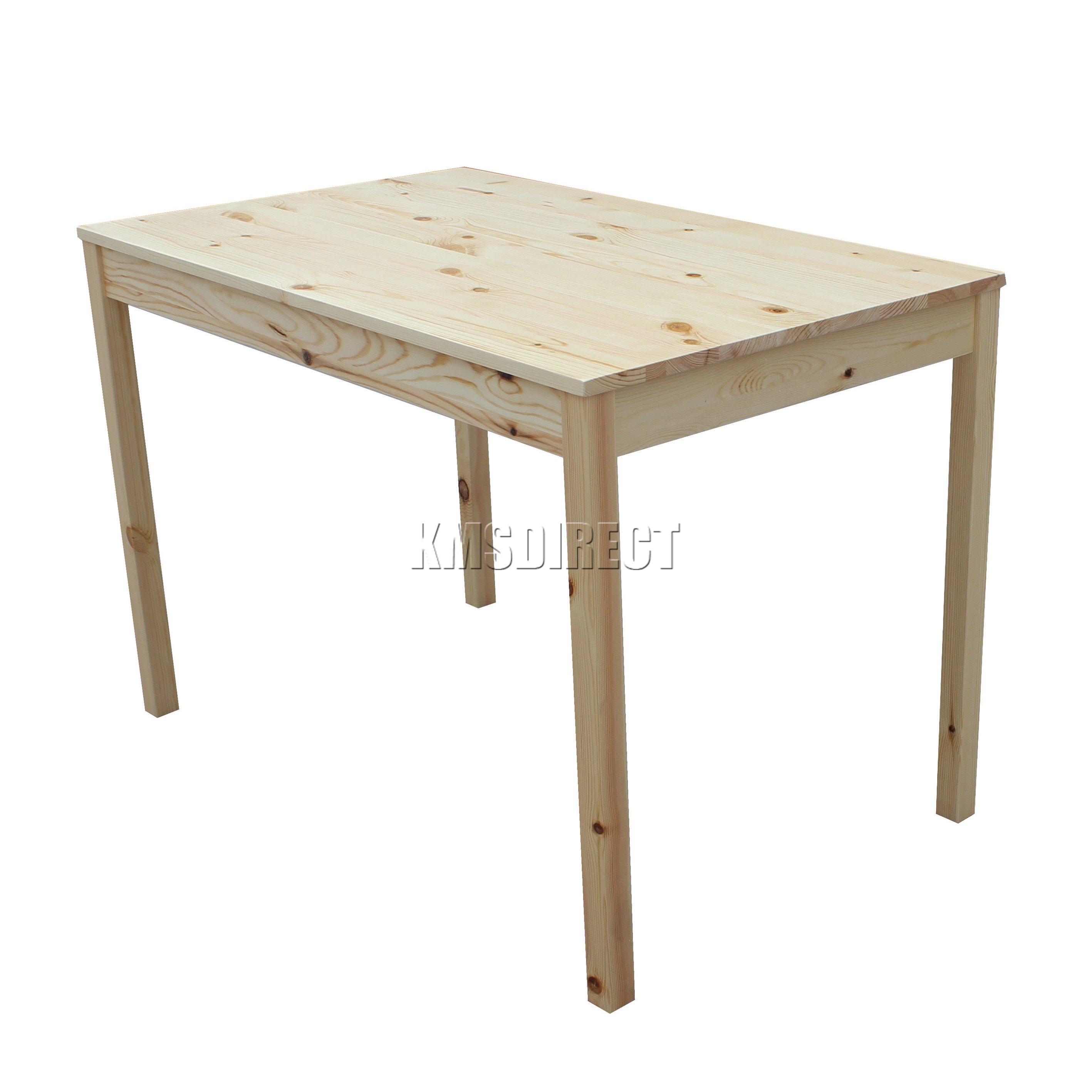 Solid Wood Kitchen Table With Bench: FoxHunter Solid Wooden Dining Table With 4 Chairs Set