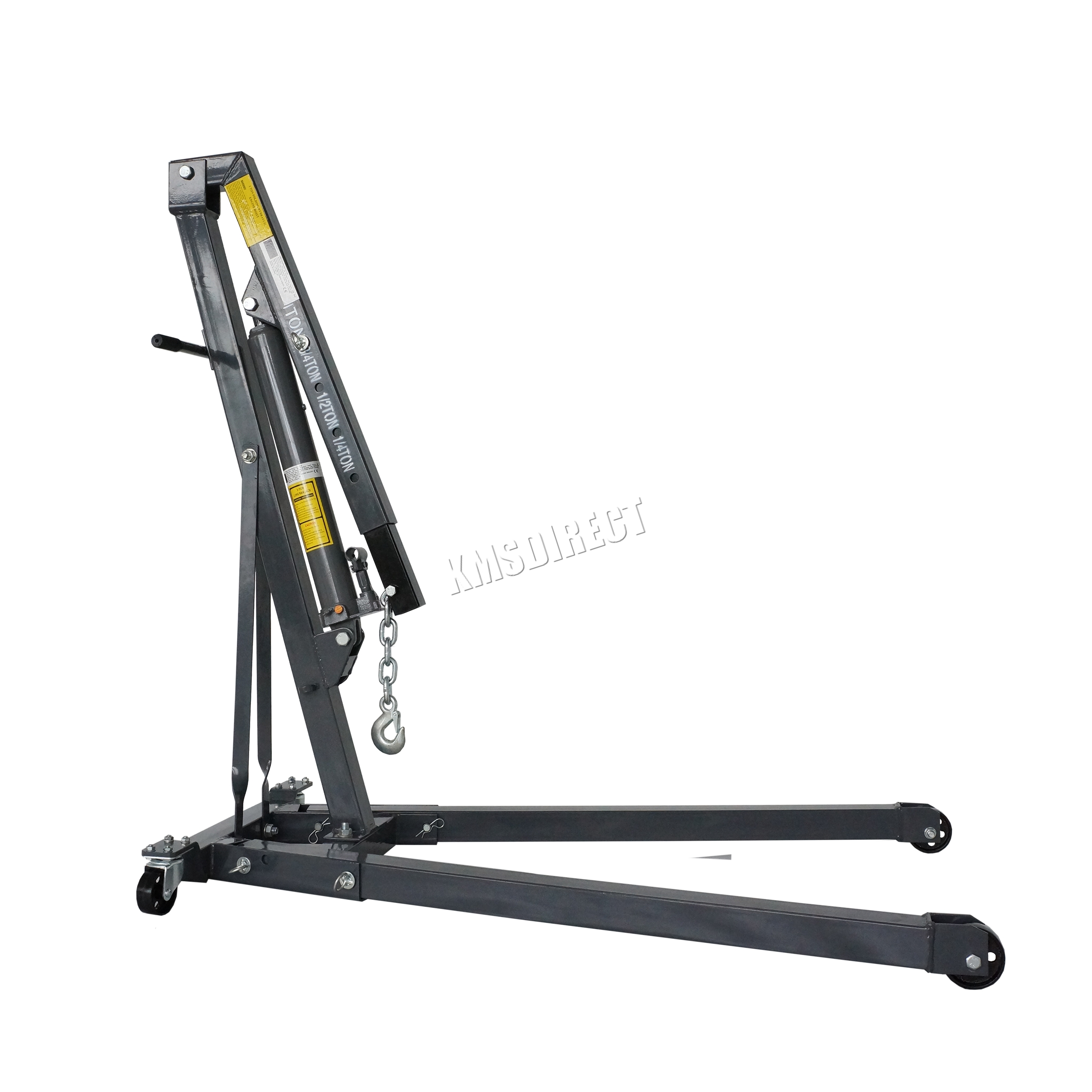 Switzer hydraulic folding engine crane stand hoist lift for 1 4 ton chain motor