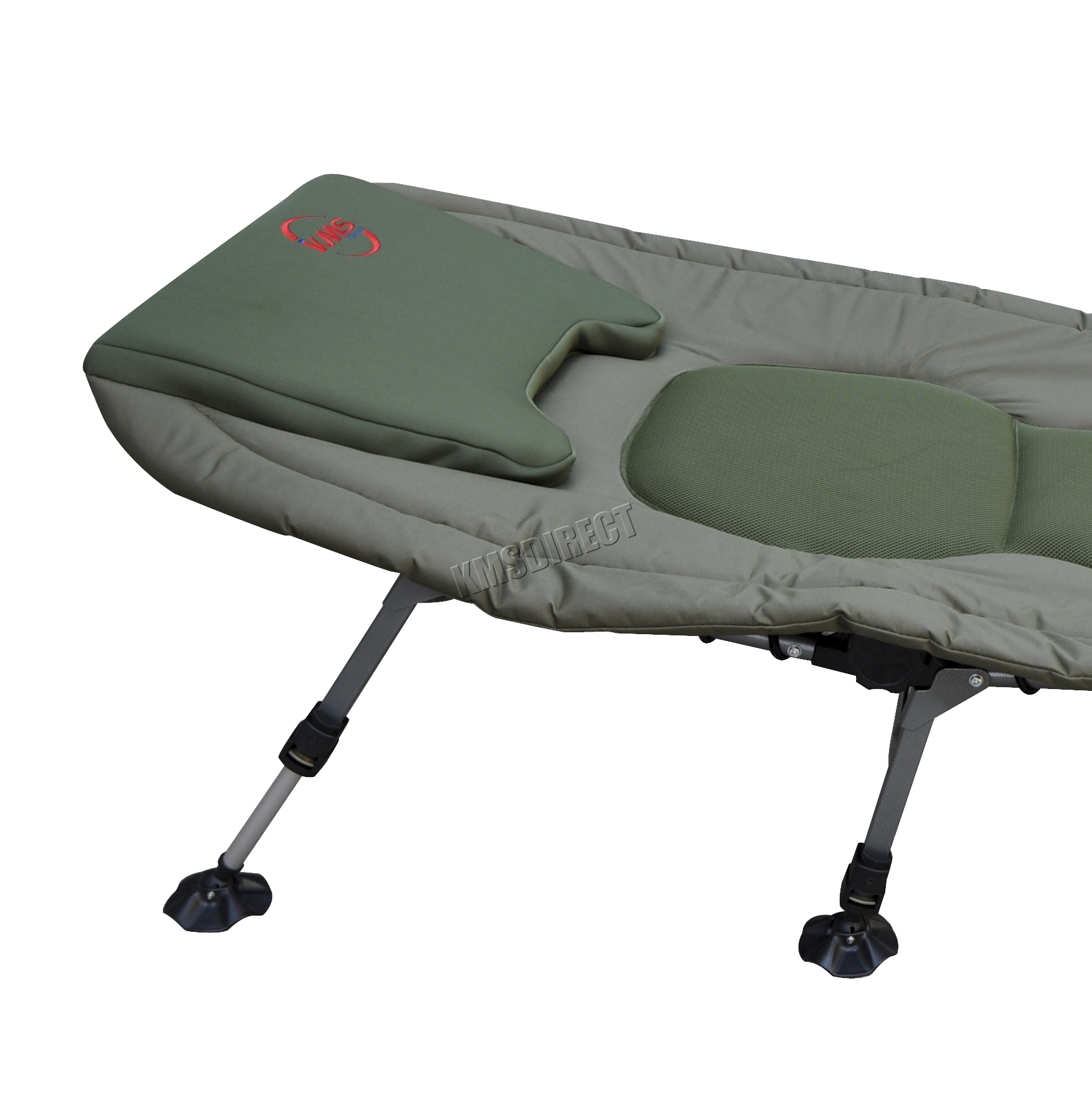 Portable Carp Fishing Bed Chair Bedchair Camping 6 Adjustable Legs