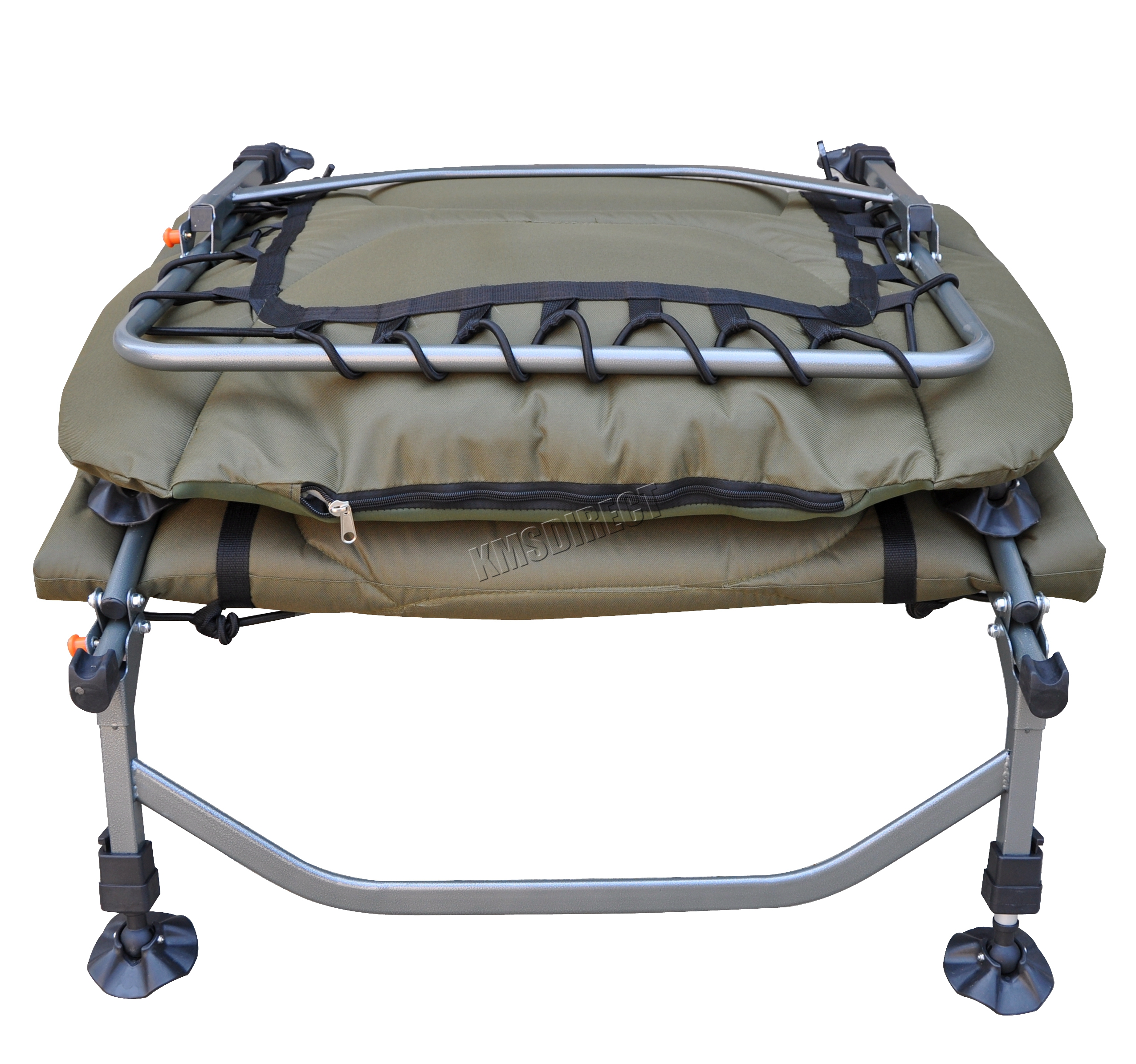 Portable Carp Fishing Bed Chair Bedchair Camping 8 Adjustable Legs
