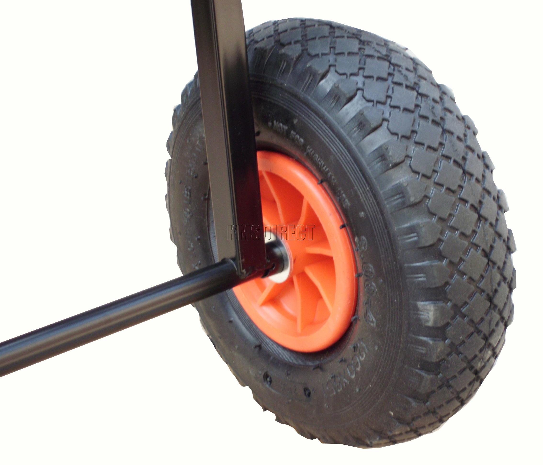 Fishing Trolley 2 Pneumatic Wheel Folding Barrow Cart With