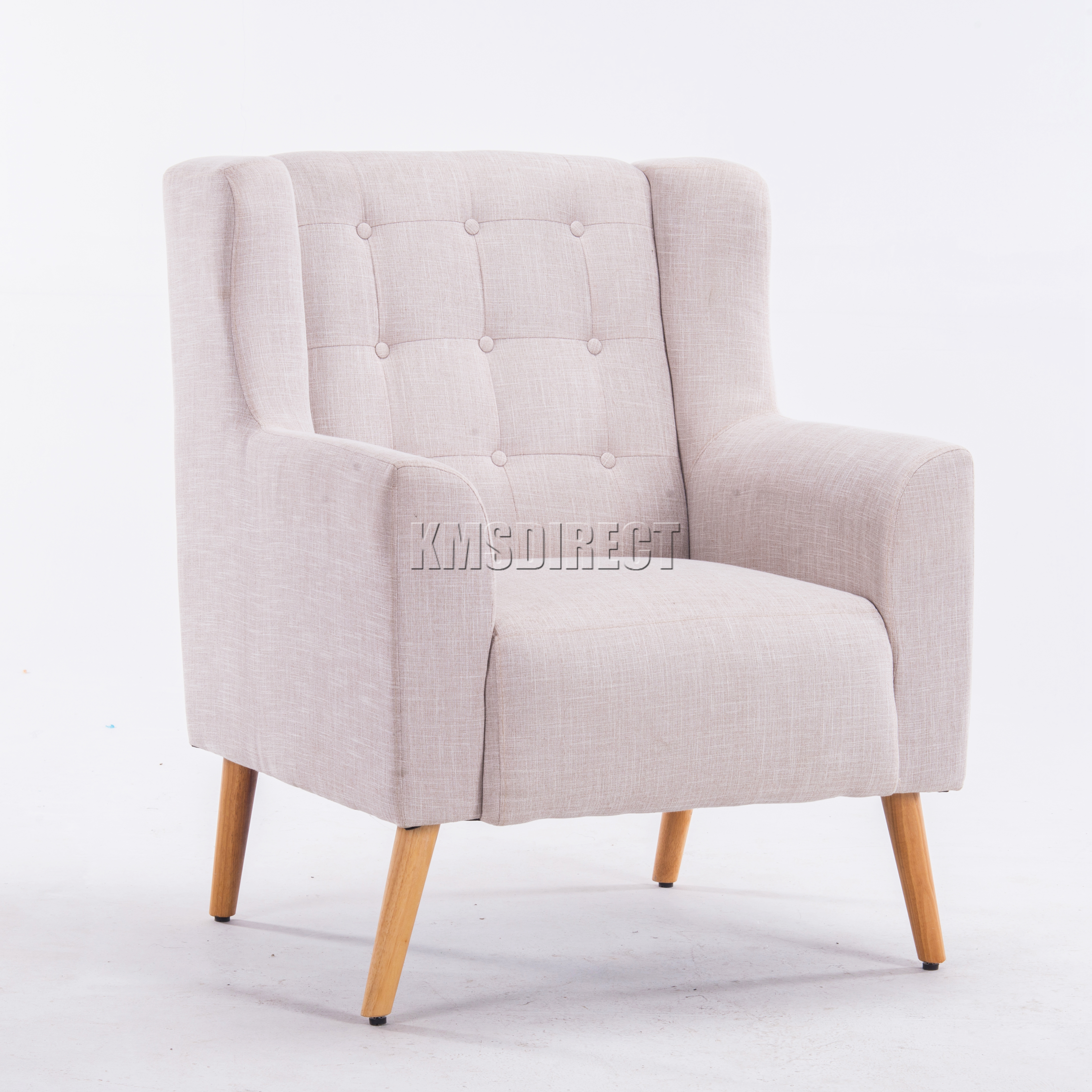 fabric chairs for living room foxhunter linen fabric tub chair armchair dining living 21461