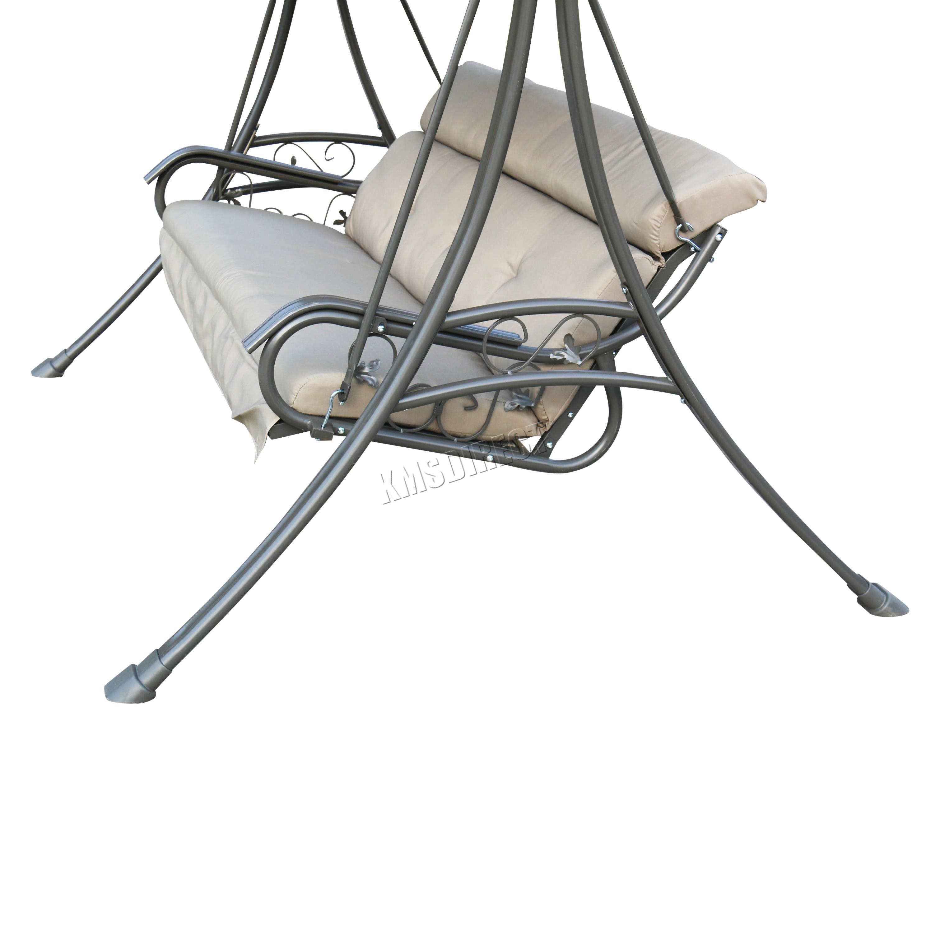 Sentinel FoxHunter Garden Metal Swing Hammock 3 Seater Chair Bench Patio  Outdoor FHSC03
