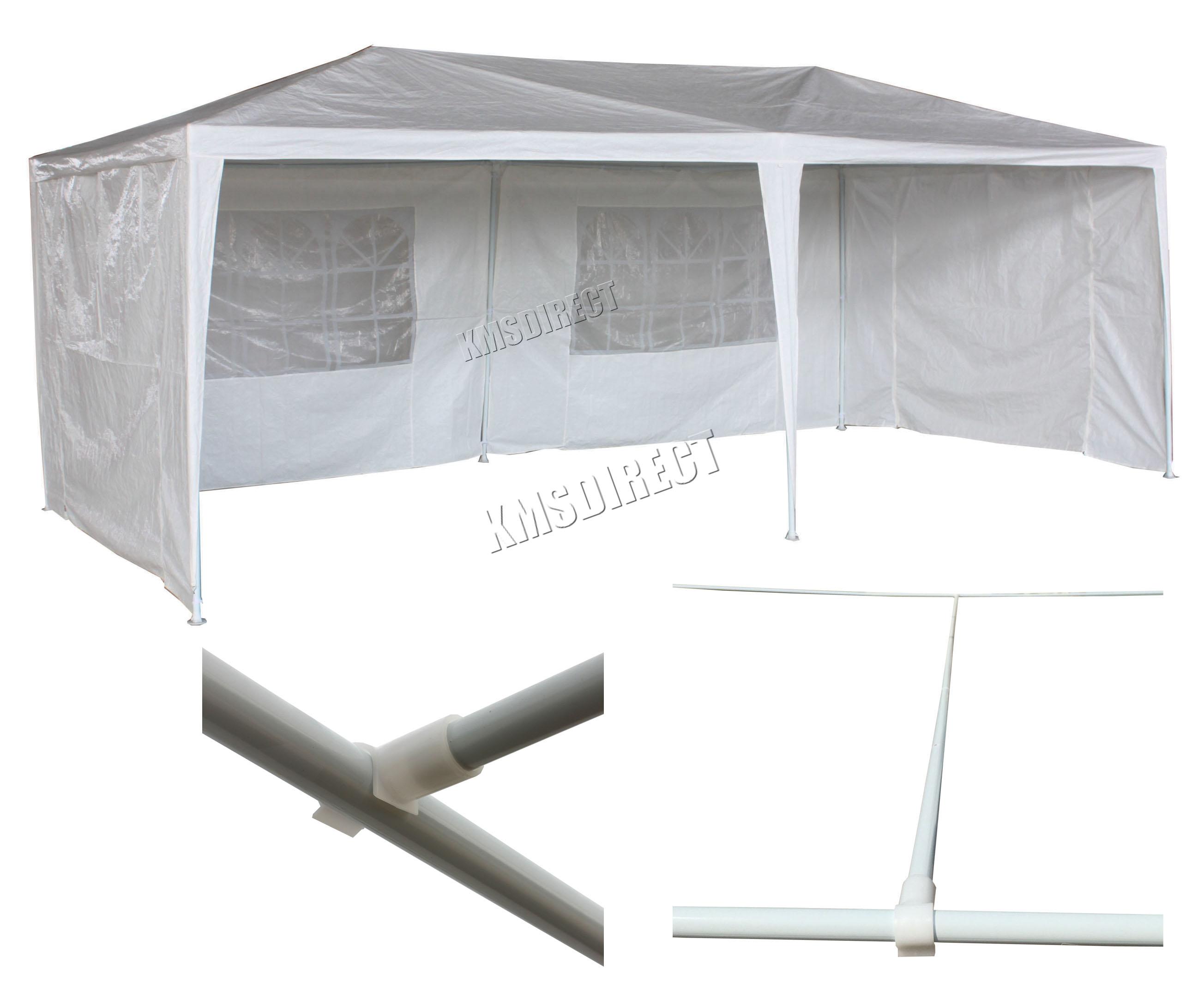 Sentinel 3m X 6m White Waterproof Outdoor Garden Gazebo Party Tent Marquee 2 SUPPORT BEAM