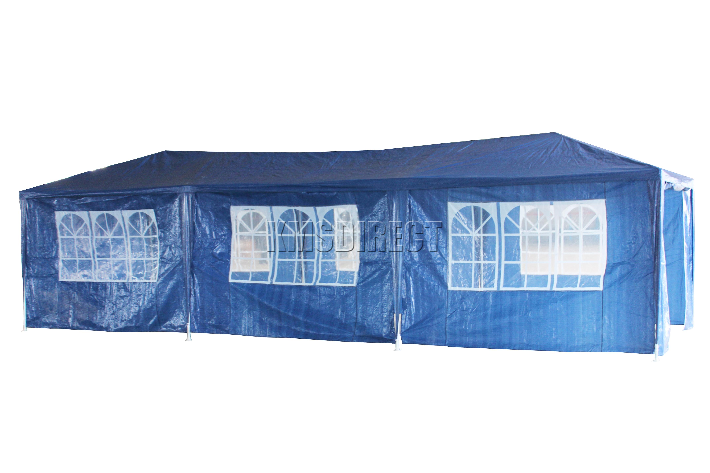Waterproof Blue 3m x 9m Outdoor Garden Gazebo Party Tent