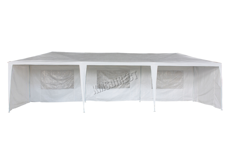 3m x 9m White Waterproof Outdoor Garden Gazebo Party Tent
