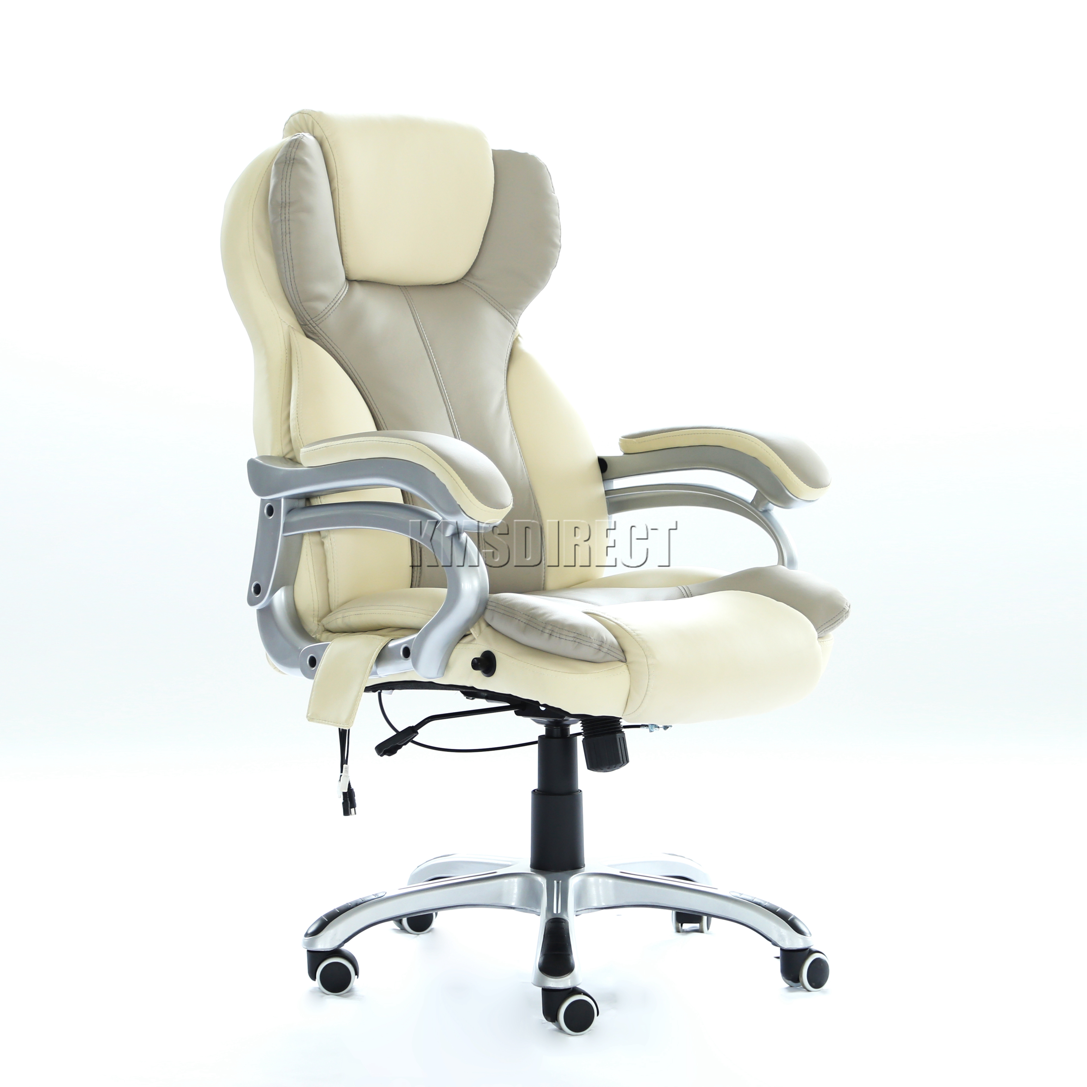 luxury office chair. sentinel foxhunter luxury 6 point massage office computer chair reclining mc8074 cream