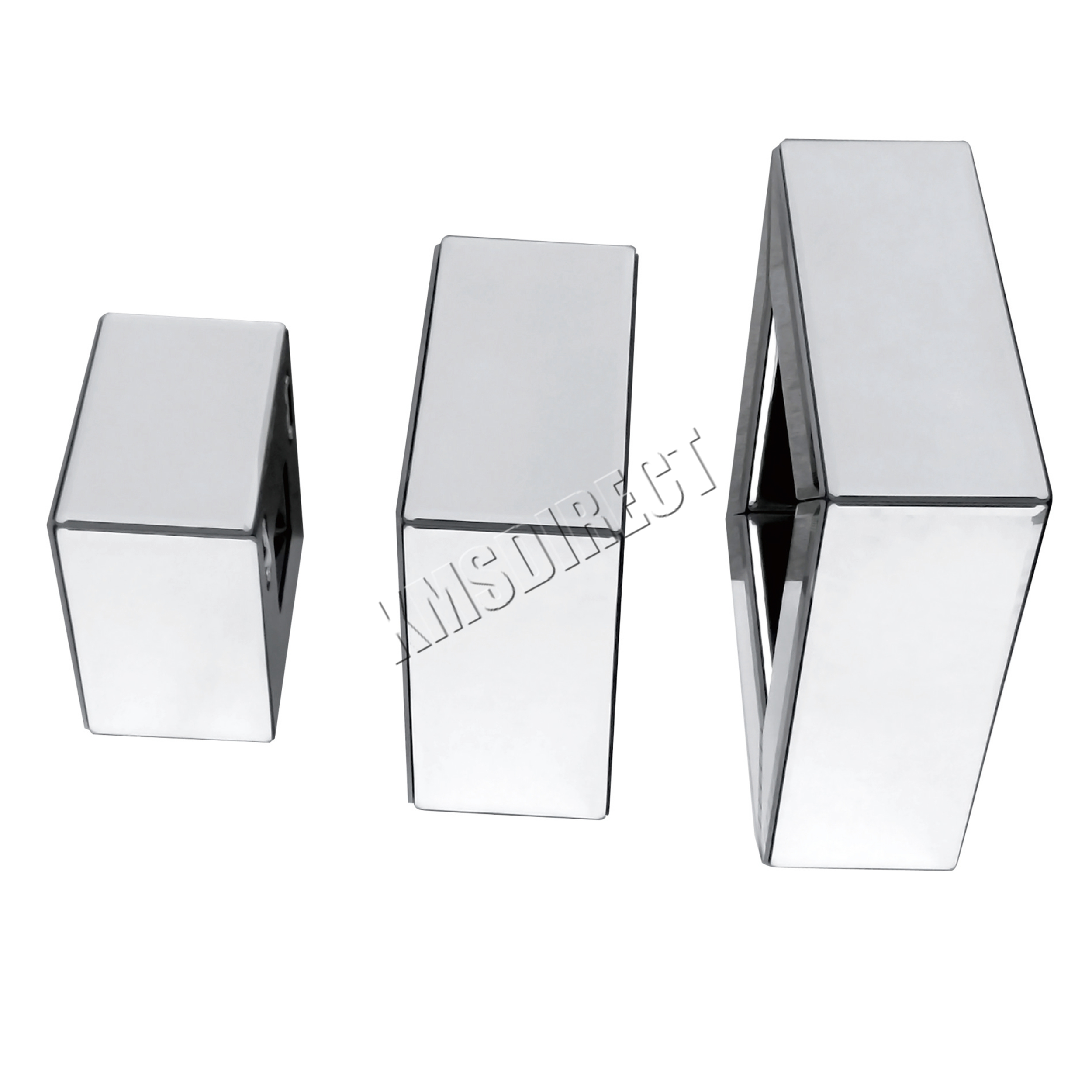 Foxhunter bevelled mirrored furniture glass cube floating for Mirrored box shelves