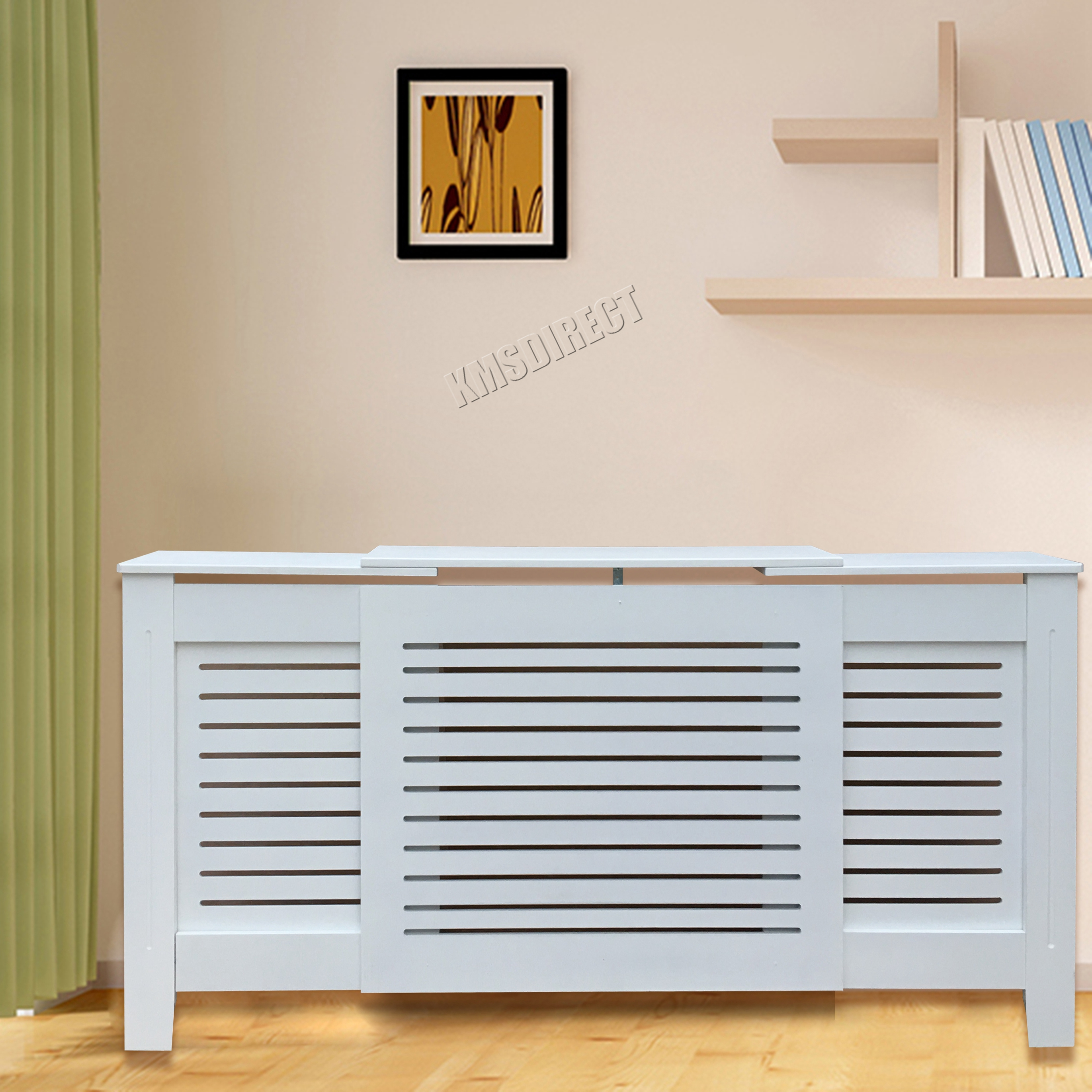 WestWood White Painted Radiator Cover Wall Cabinet Wood MDF Modern ...