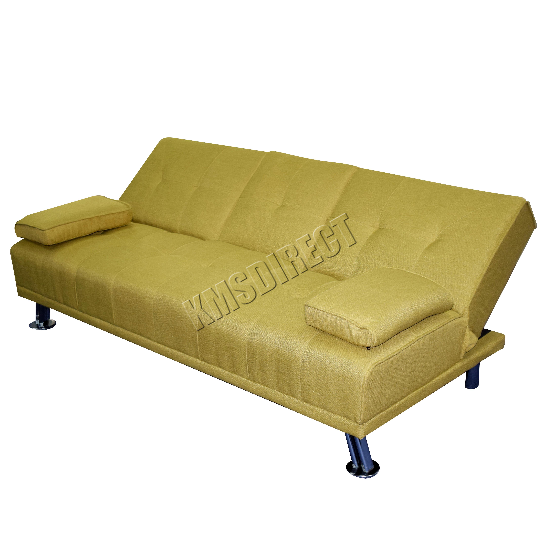 Foxhunter Fabric Manhattan Sofa Bed Recliner 3 Seater