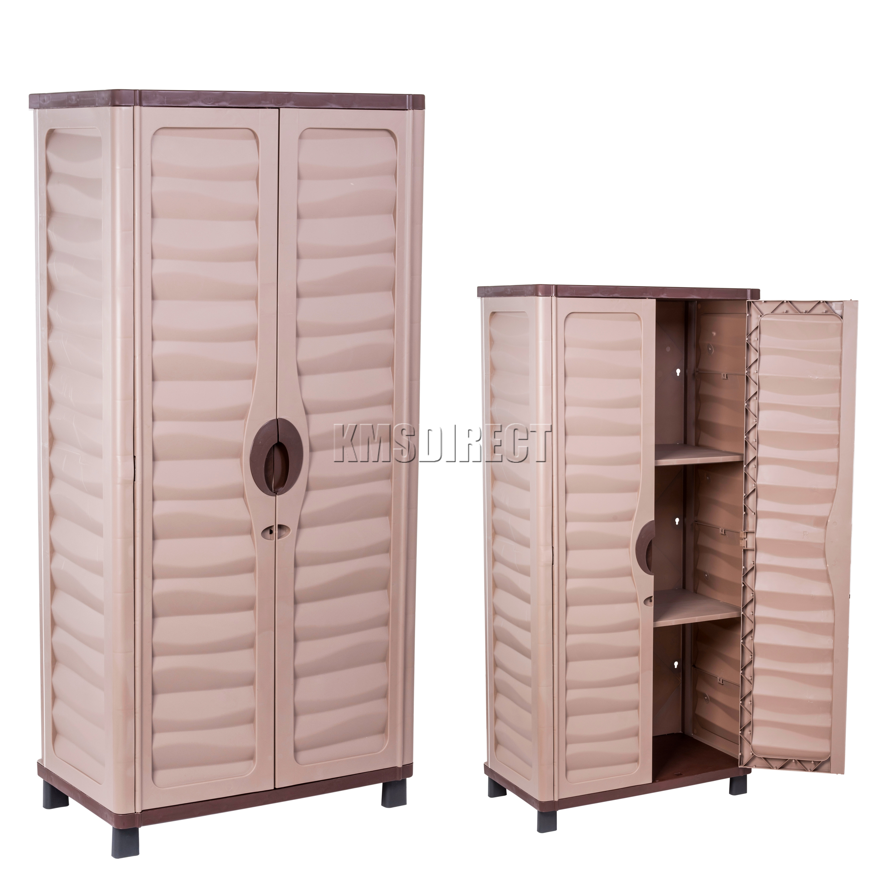 storage cabinet with shelves starplast outdoor plastic garden utility cabinet with 2 26830