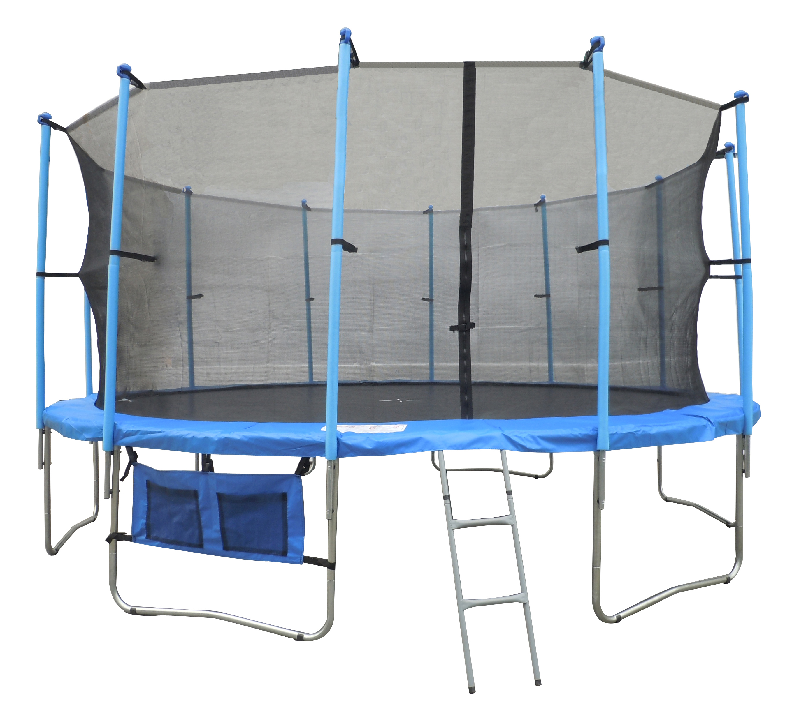 New 16ft Trampoline With Ladder Net Enclosure Safety