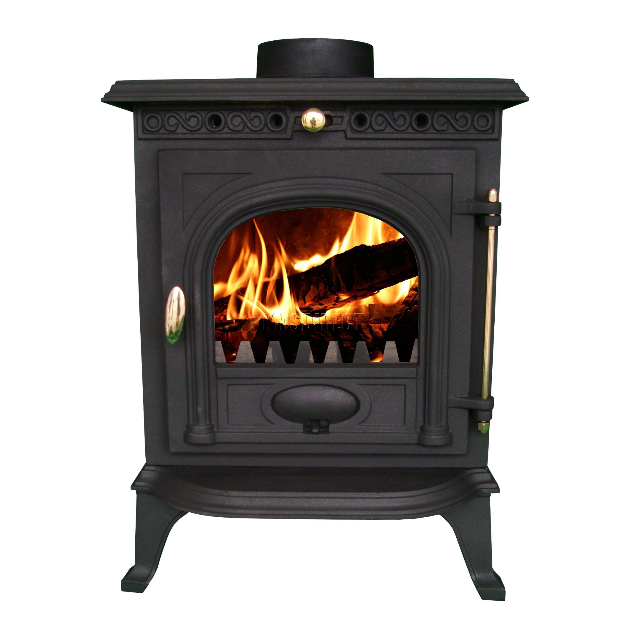 Multi Fuel Burner Reviews: WoodBurner NEW Cast Iron Log Burner MultiFuel Wood Burning